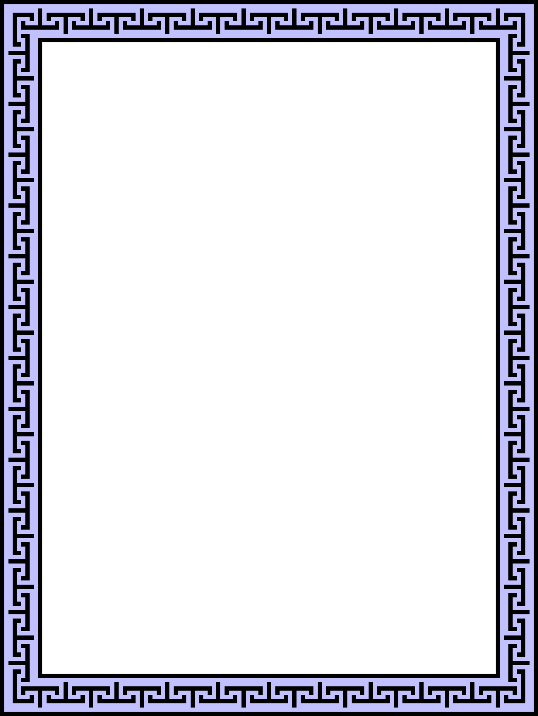 Clipart - Greek-style frame 2