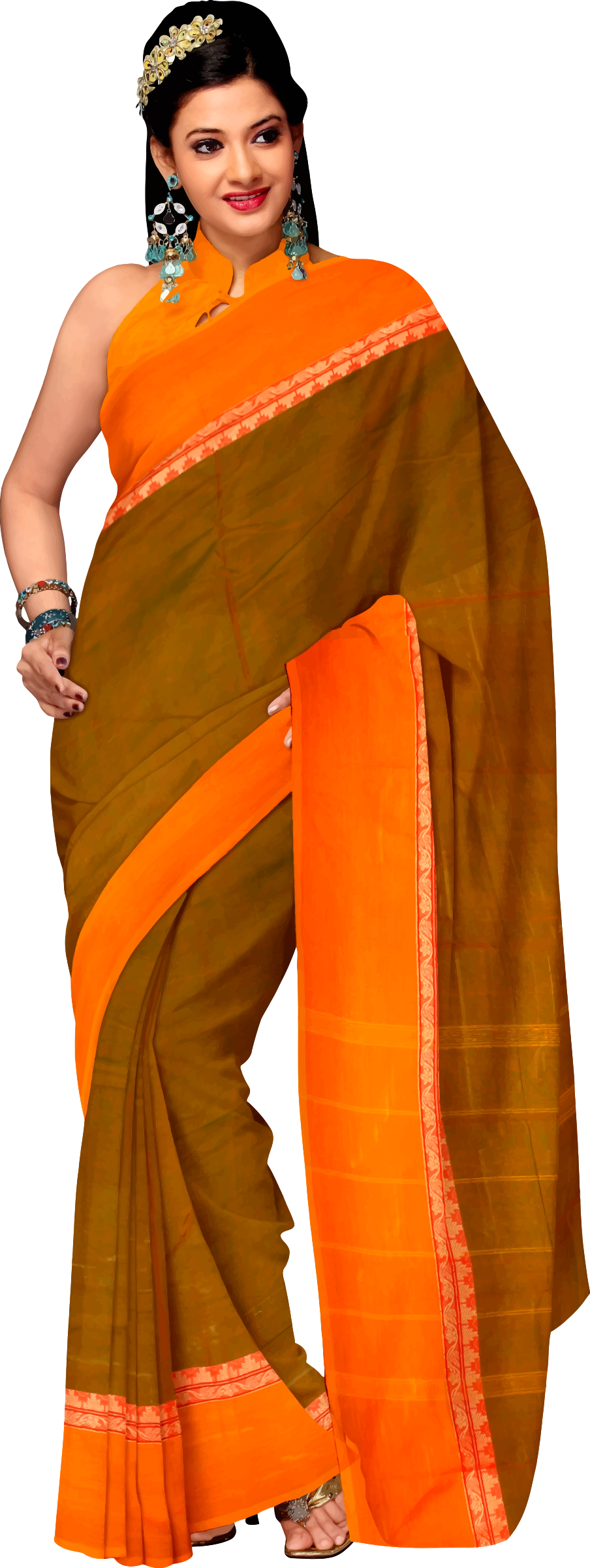 Woman in saree 4 by Firkin