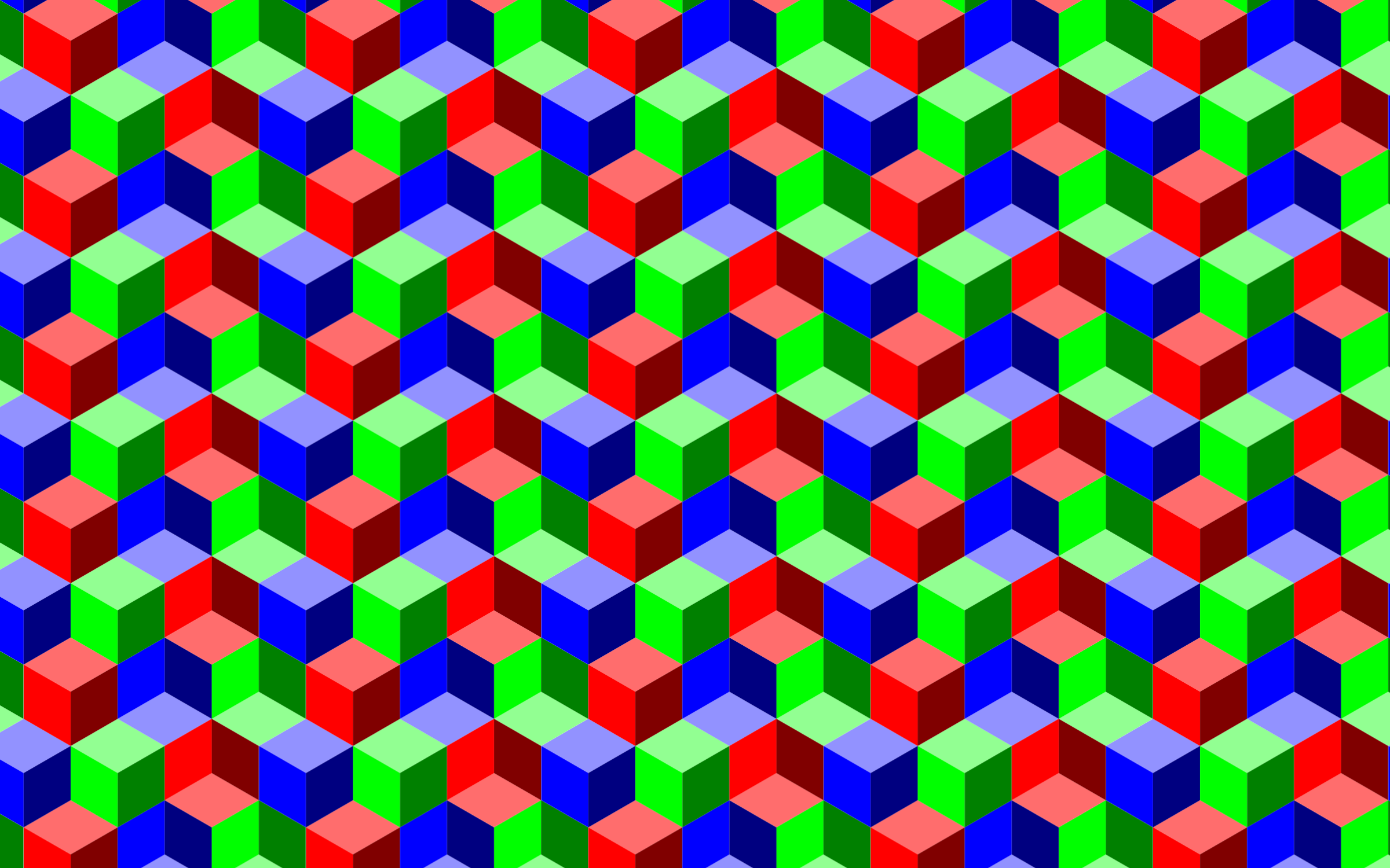 Seamless RGB Isometric Cubes Pattern 2 by GDJ