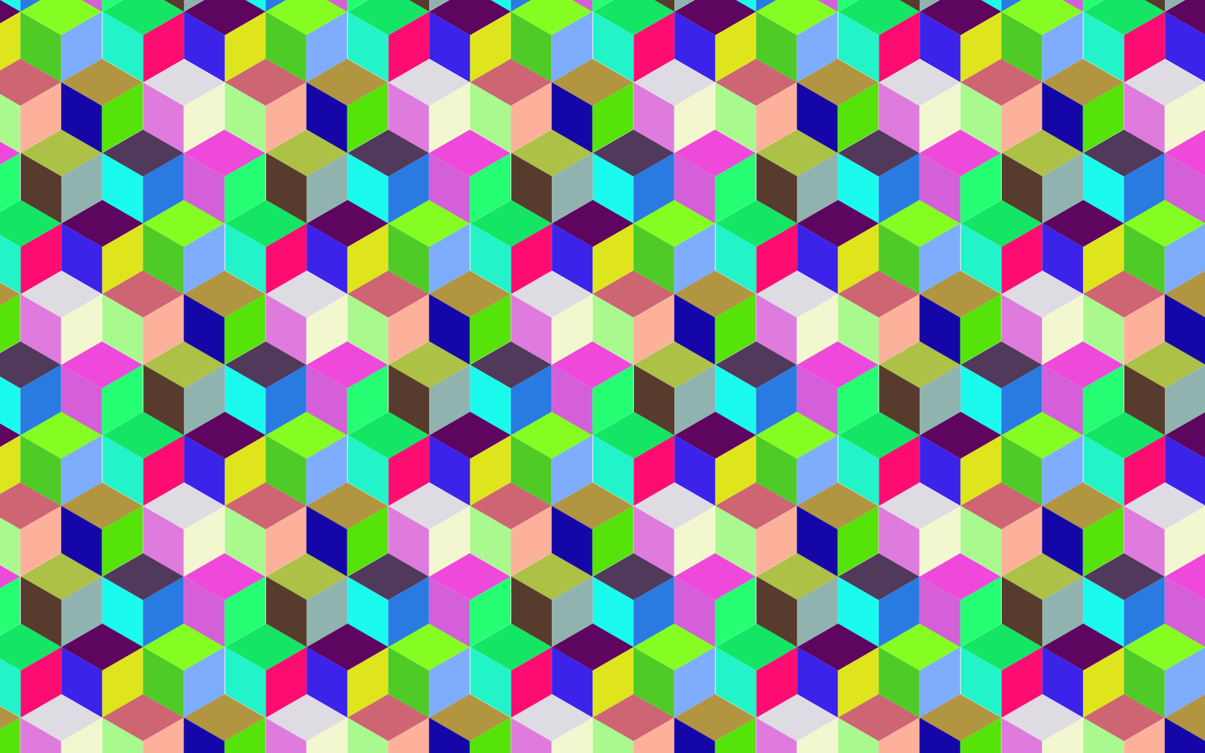 Seamless Prismatic Isometric Cubes Pattern by GDJ