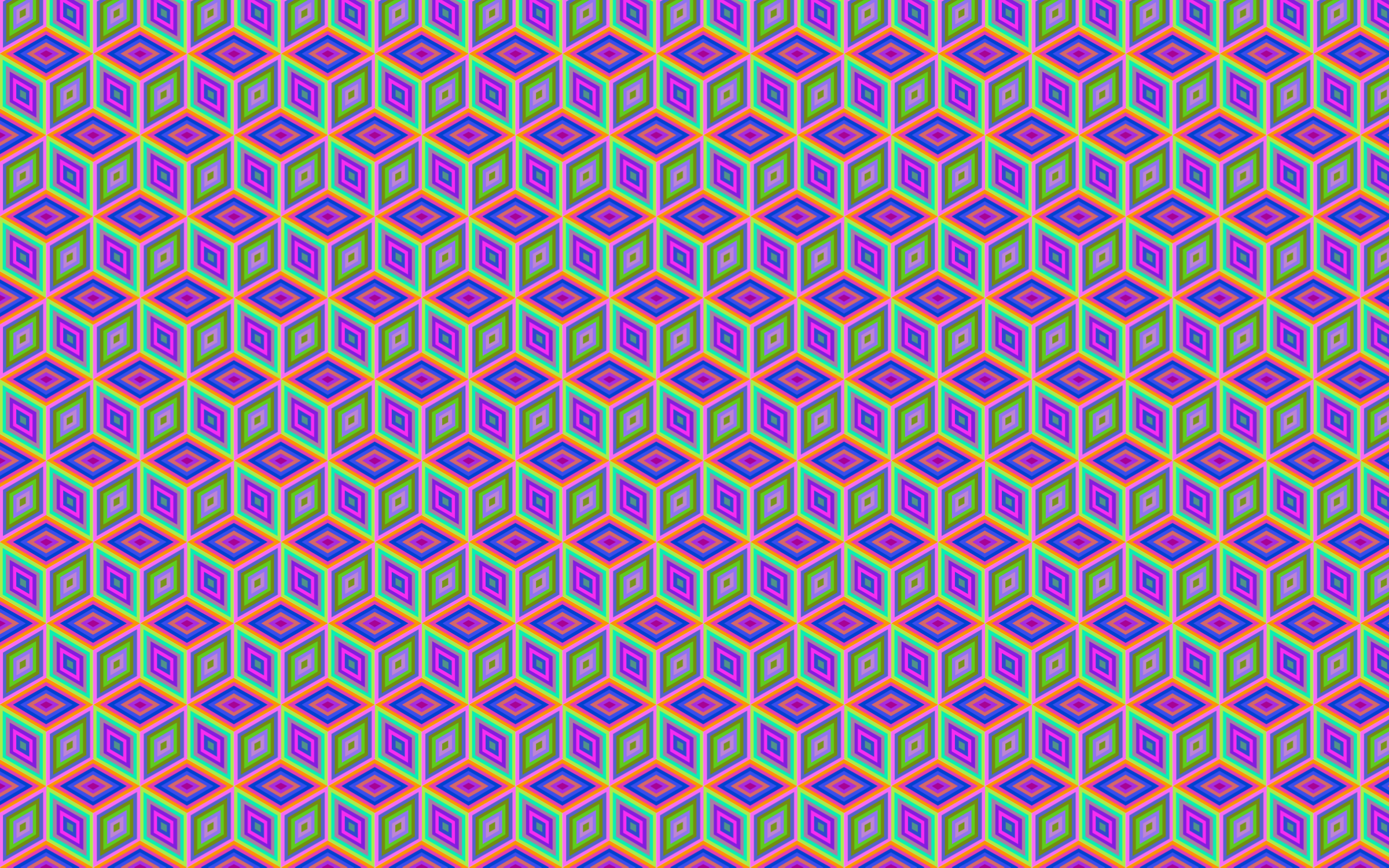 Clipart - Seamless Prismatic Isometric Cube Pattern