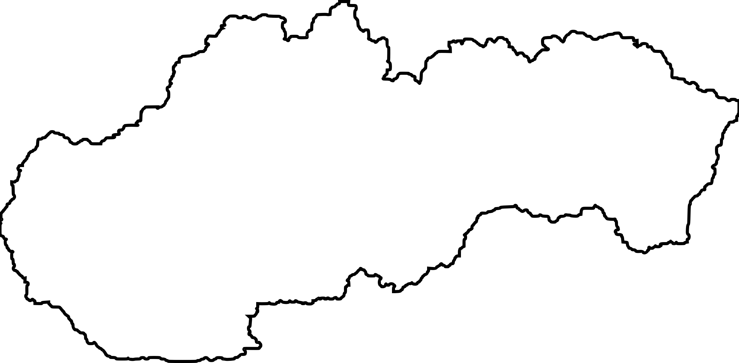 Outline of Slovakia with white fill by AdamStanislav