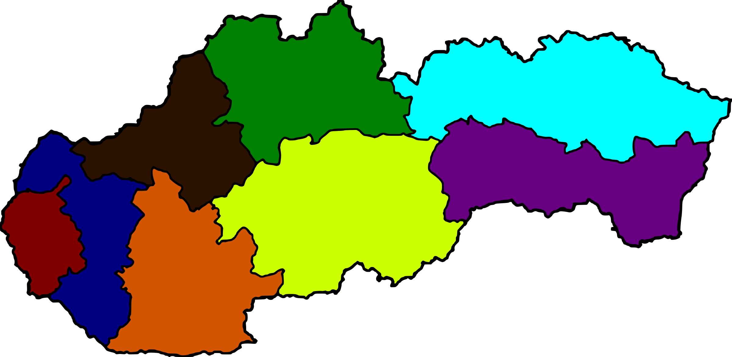 Regions of Slovakia in Color by AdamStanislav