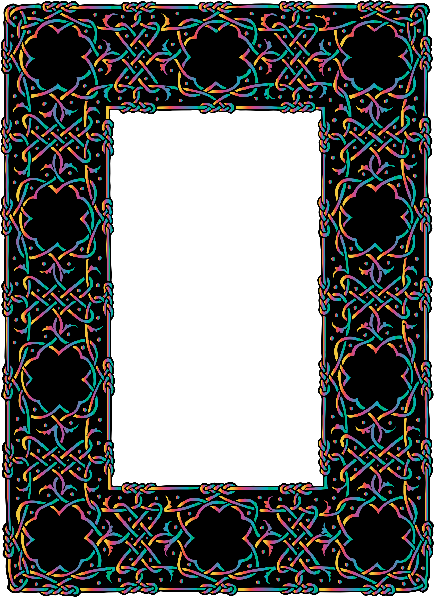 Prismatic Ornate Geometric Frame 2 by GDJ
