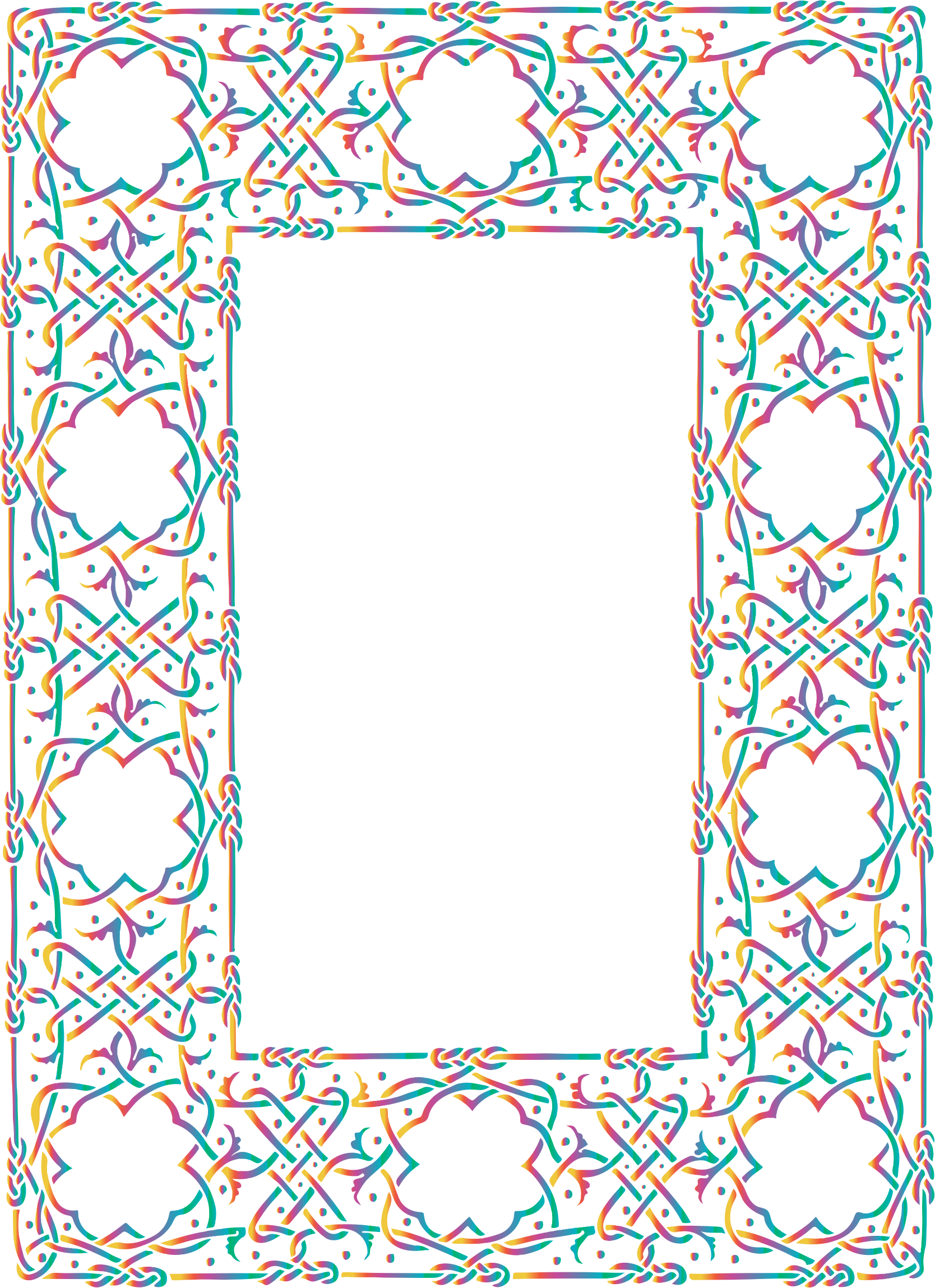 Prismatic Ornate Geometric Frame 2 No Background by GDJ