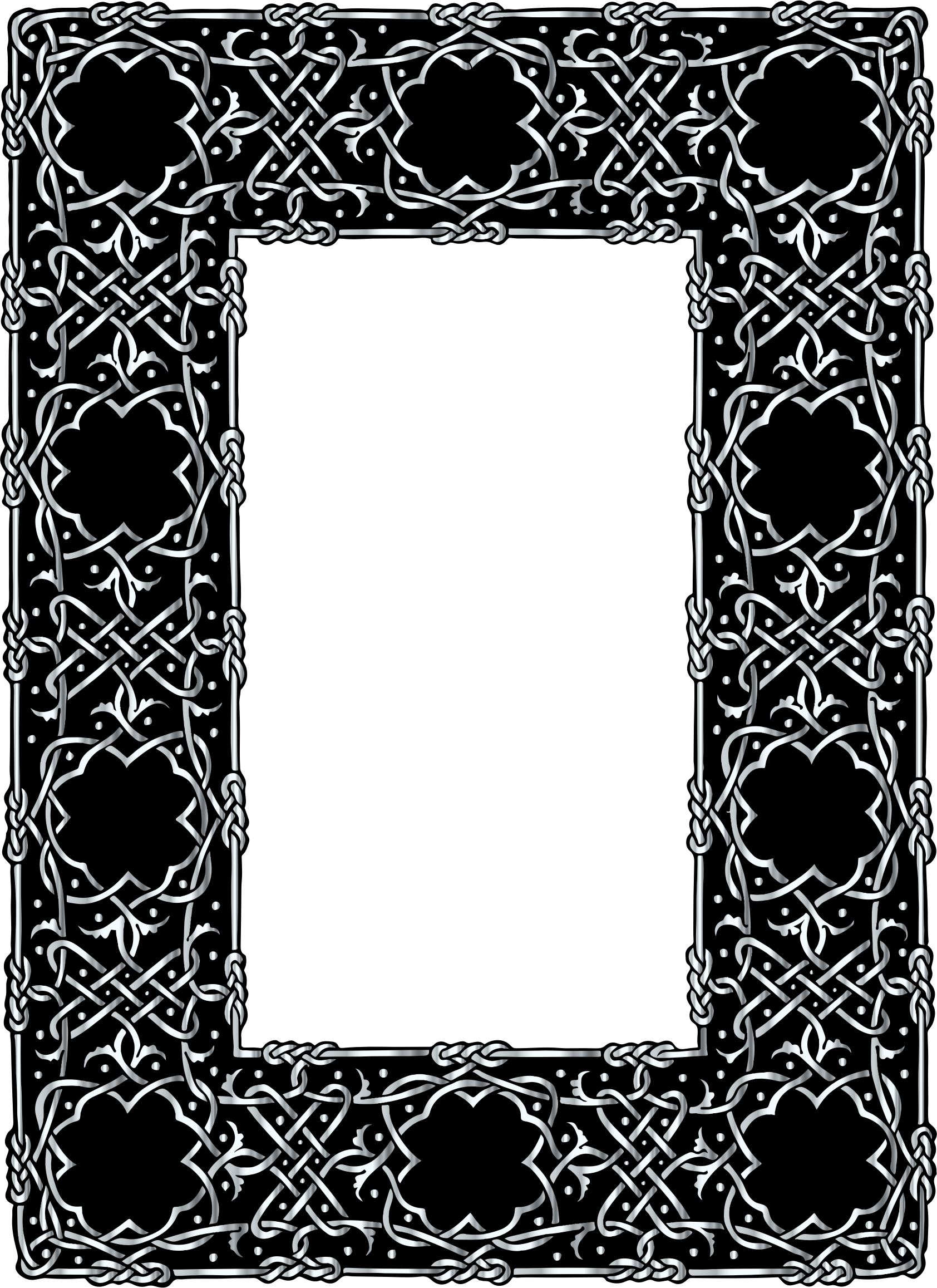 Silver Ornate Geometric Frame by GDJ