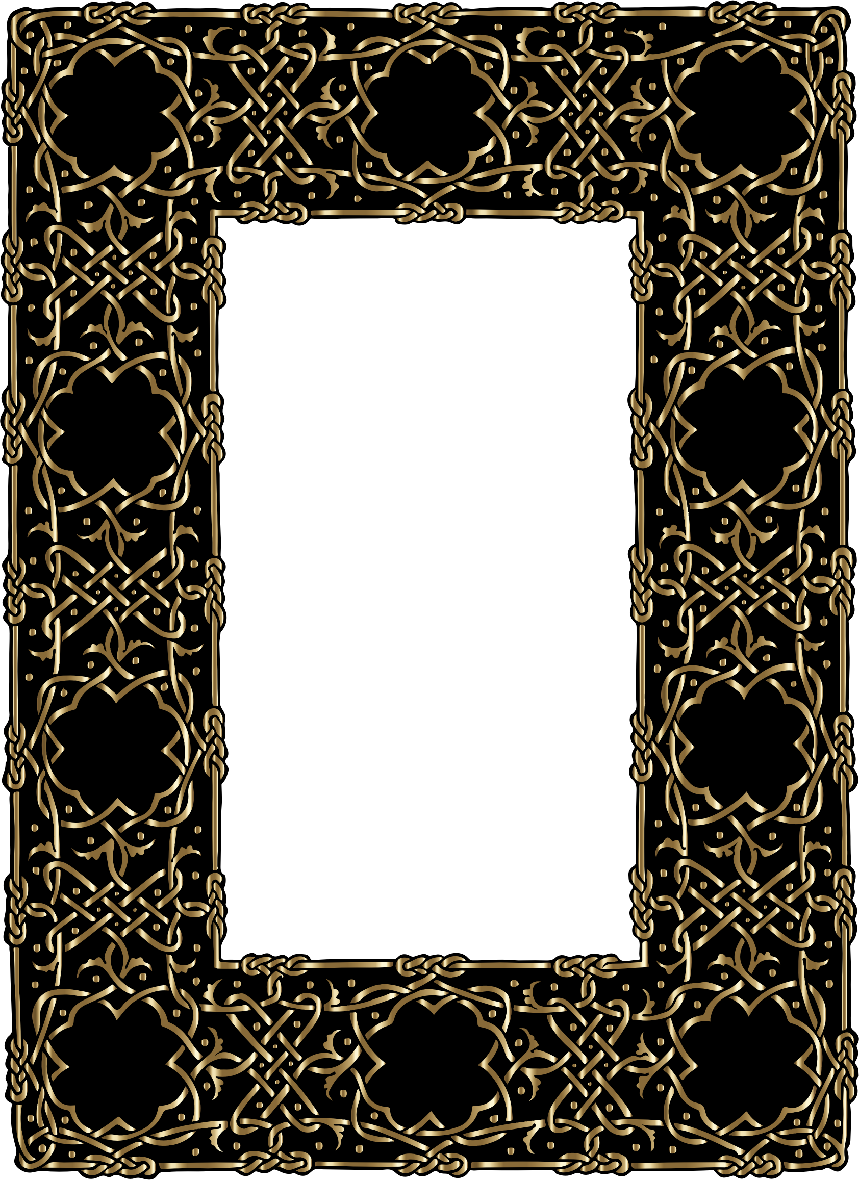 Gold Ornate Geometric Frame by GDJ