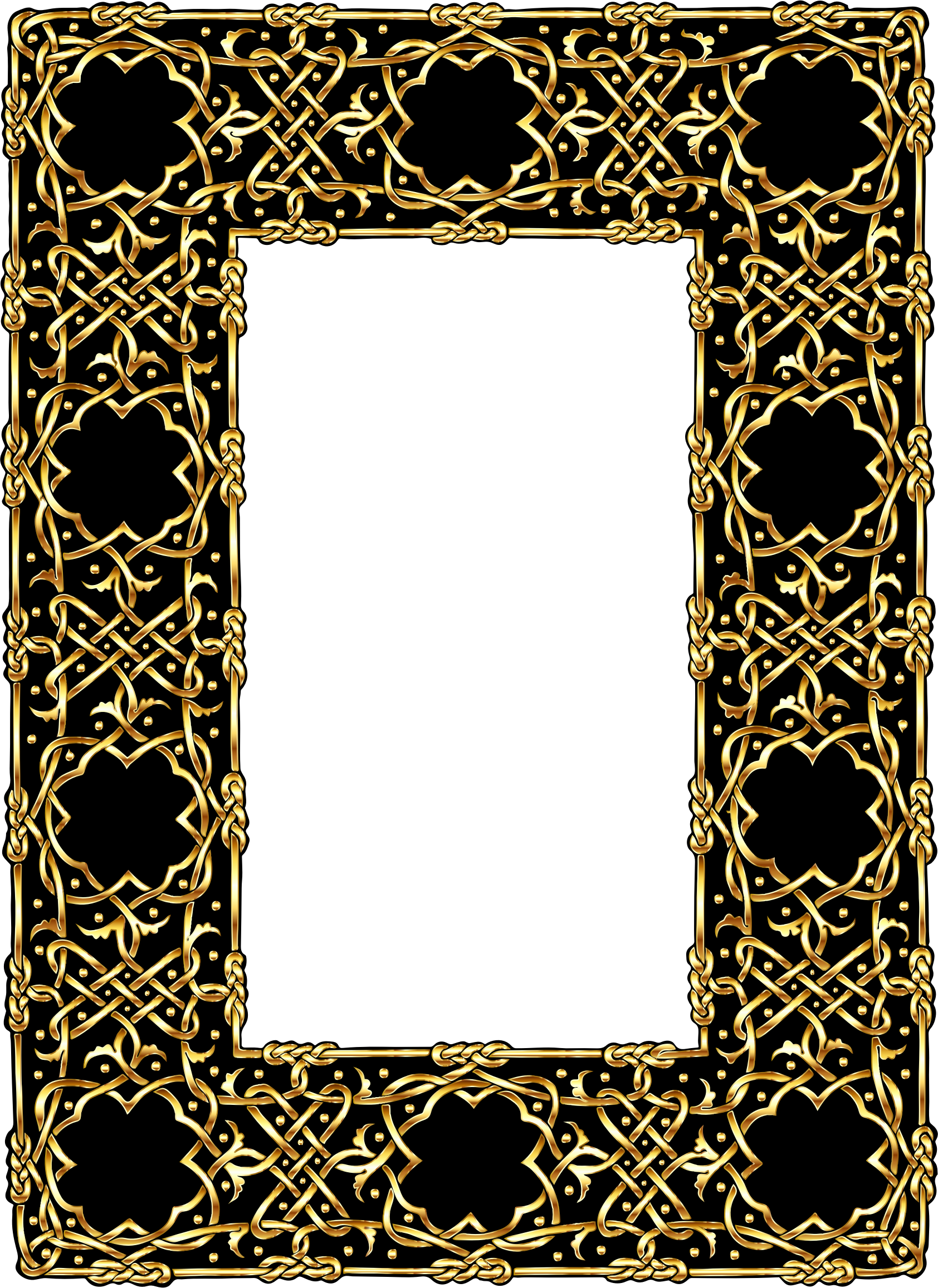 Gold Ornate Geometric Frame 2 by GDJ