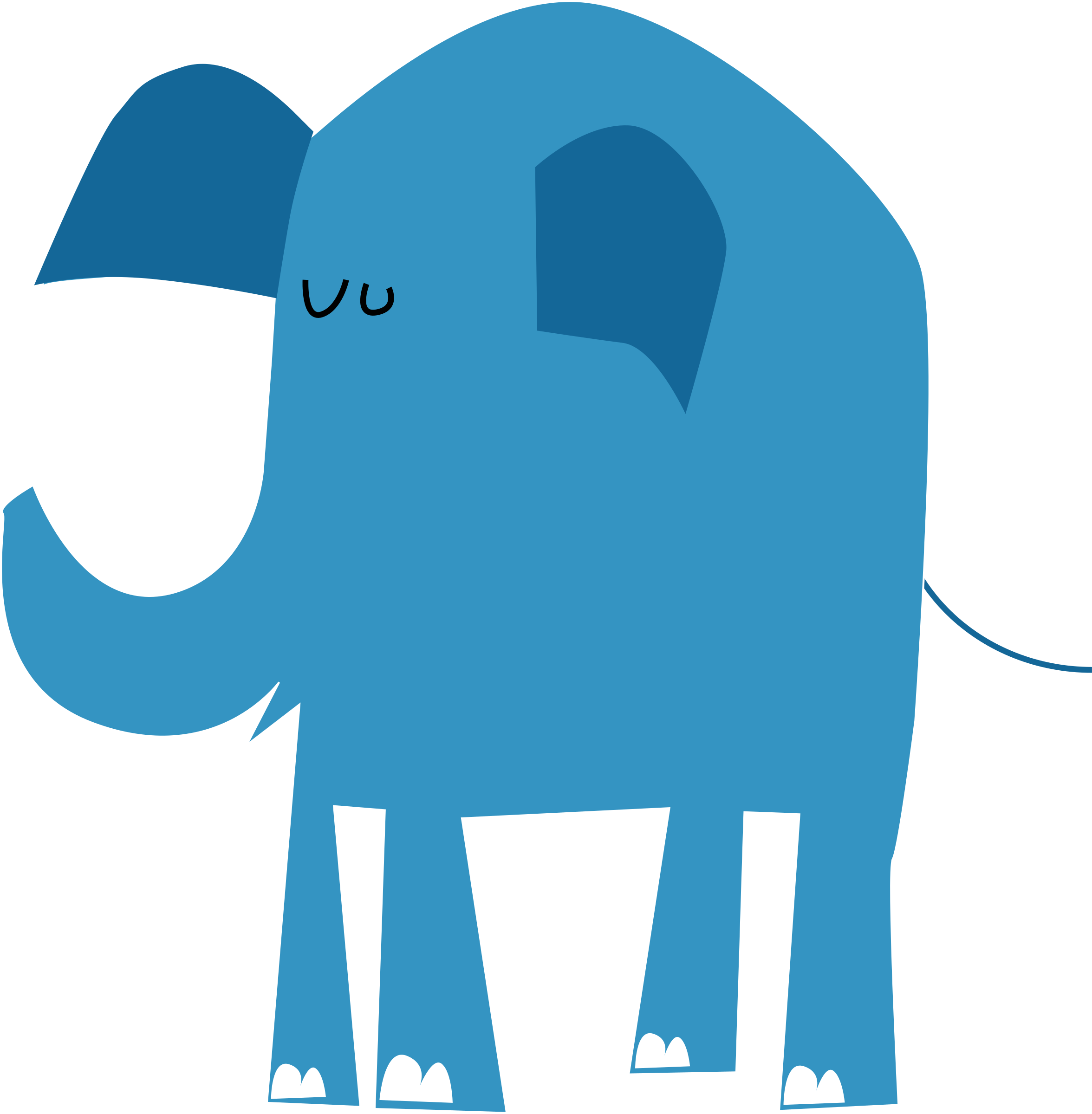 blue elephant without text by talekids