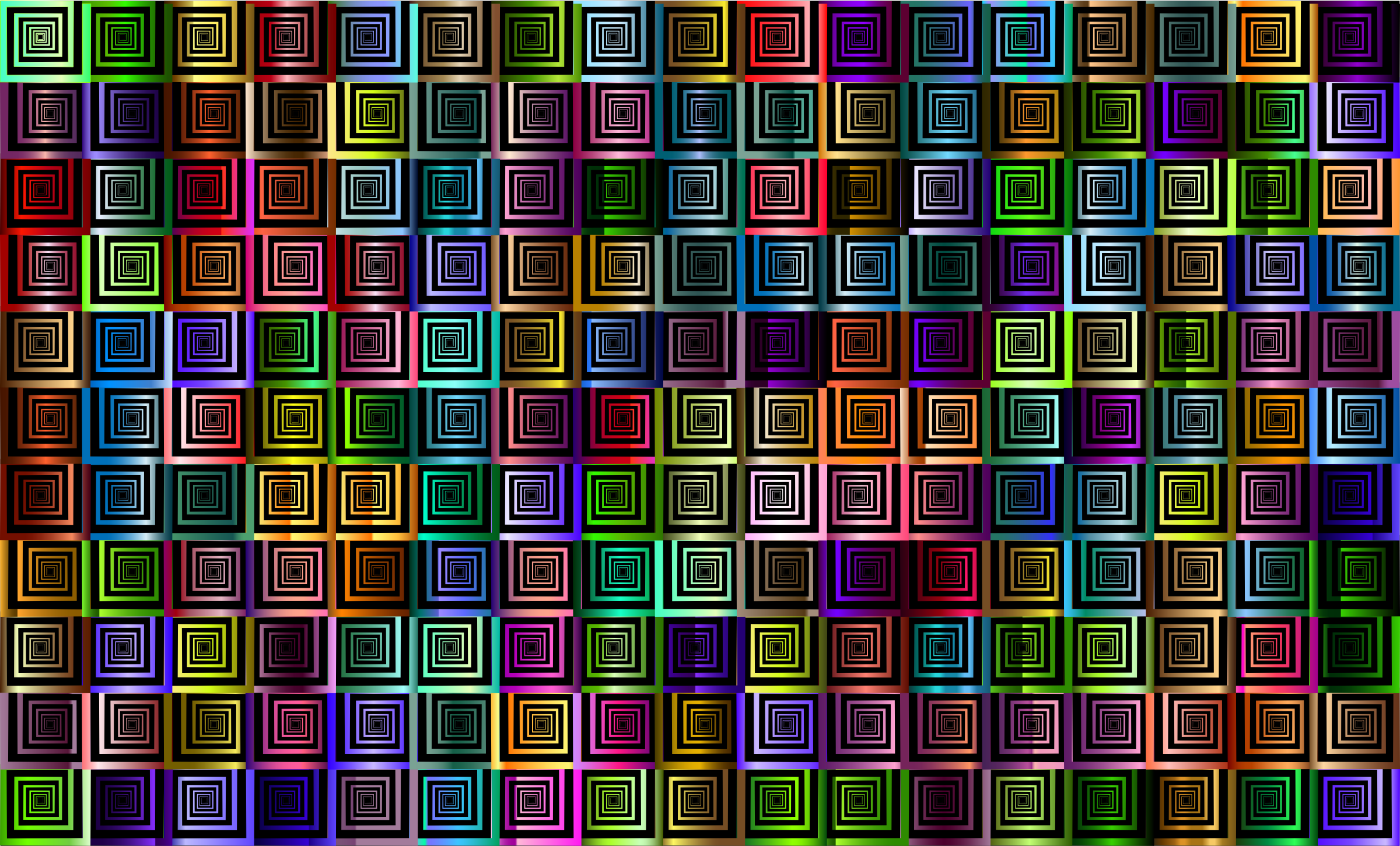 Prismatic Hypnotic Pattern 2 by GDJ