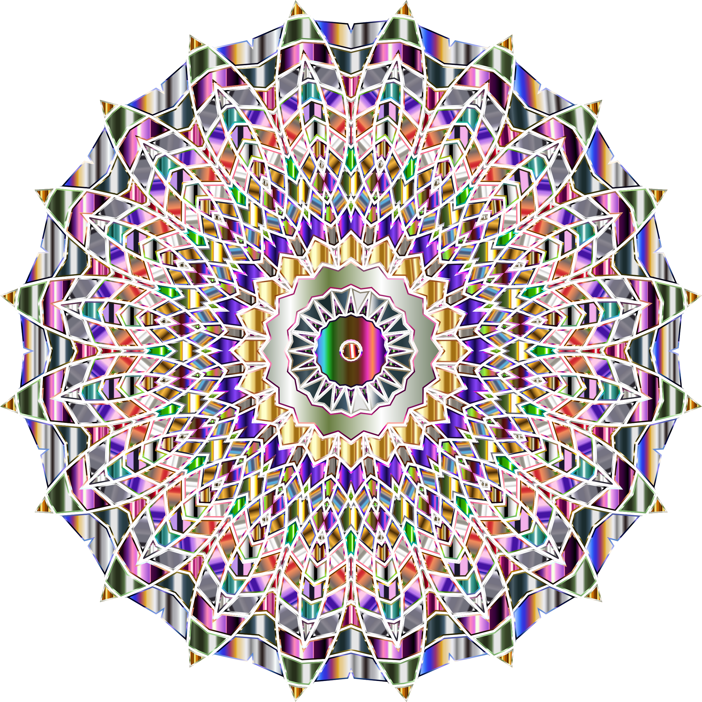 Chromatic Mandala No Background by GDJ