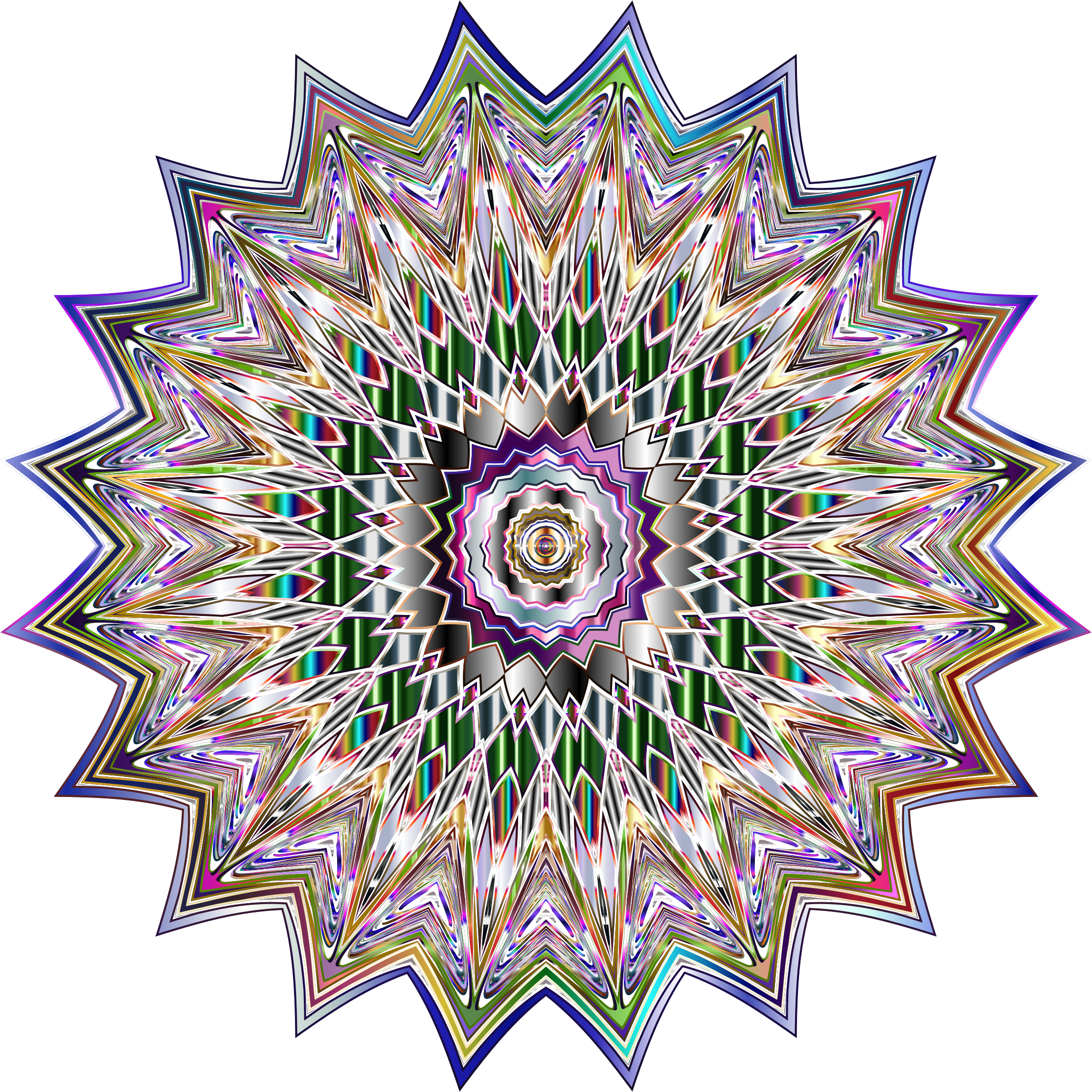 Chromatic Mandala 2 No Background by GDJ