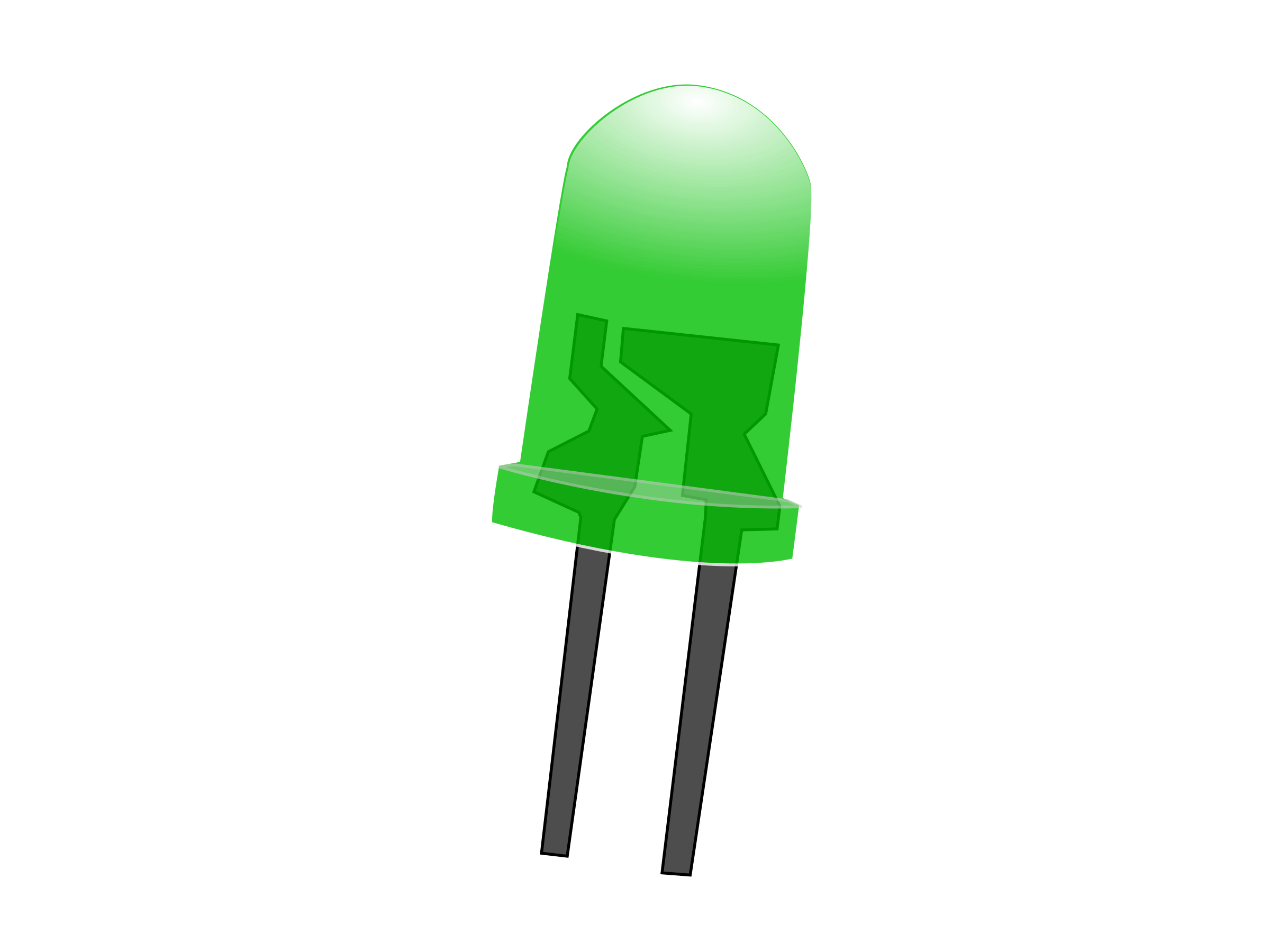 Green LED Lamp (Off) by howardthegeek