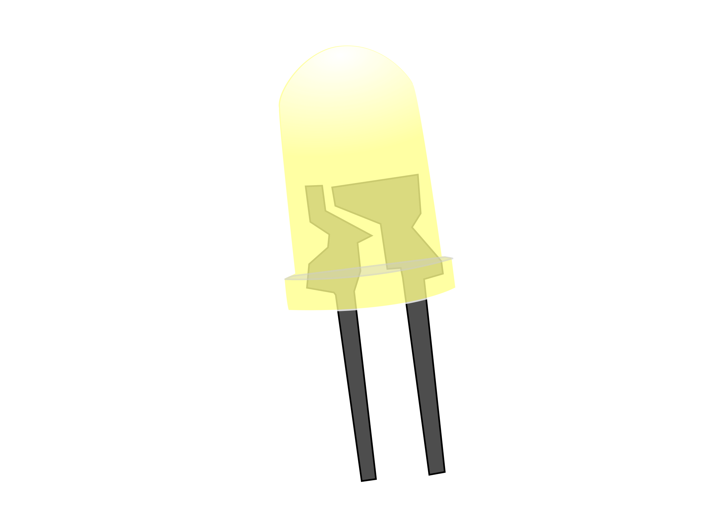Yellow LED Lamp (On) by howardthegeek