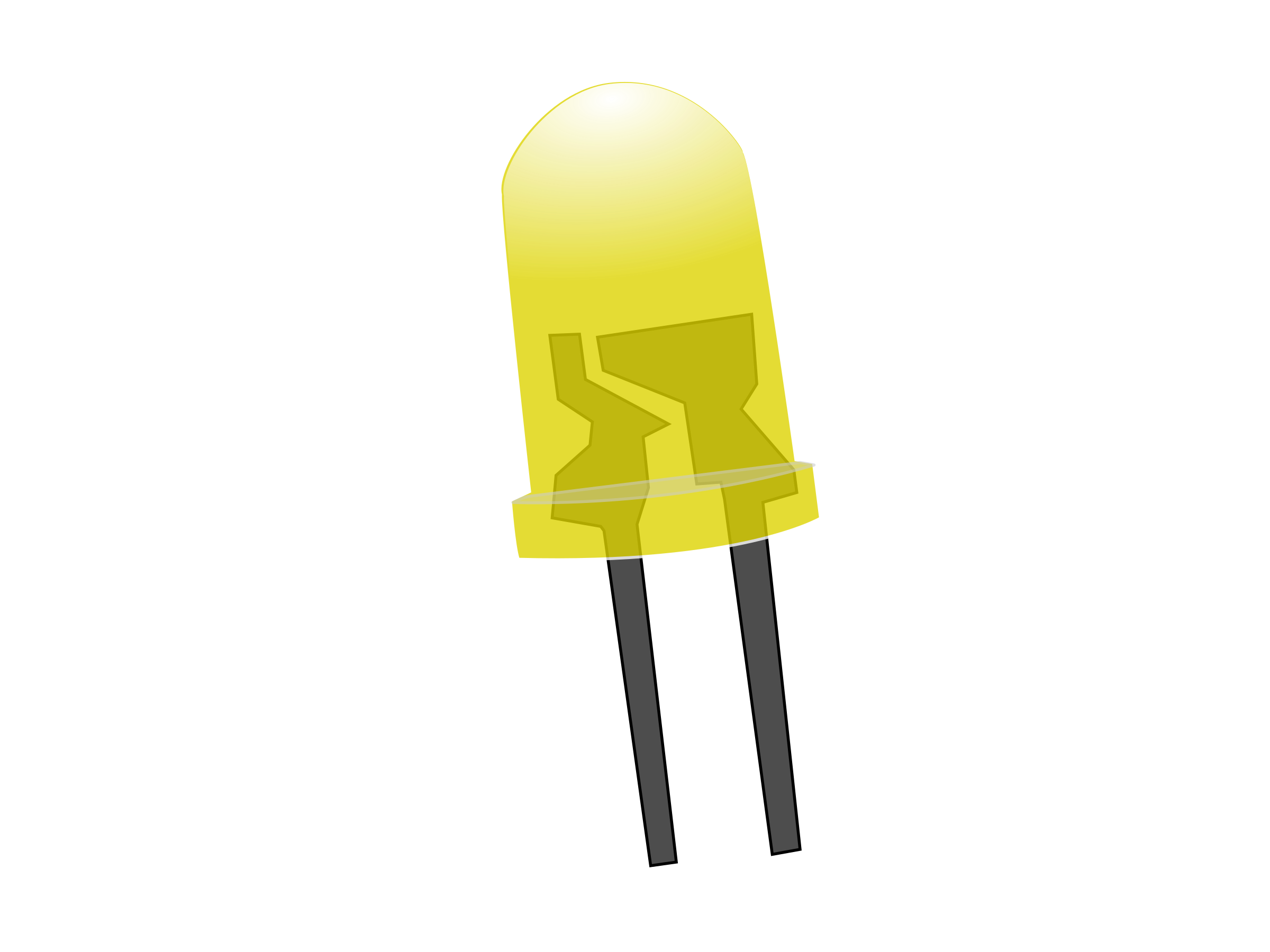 Yellow LED Lamp (Off) by howardthegeek