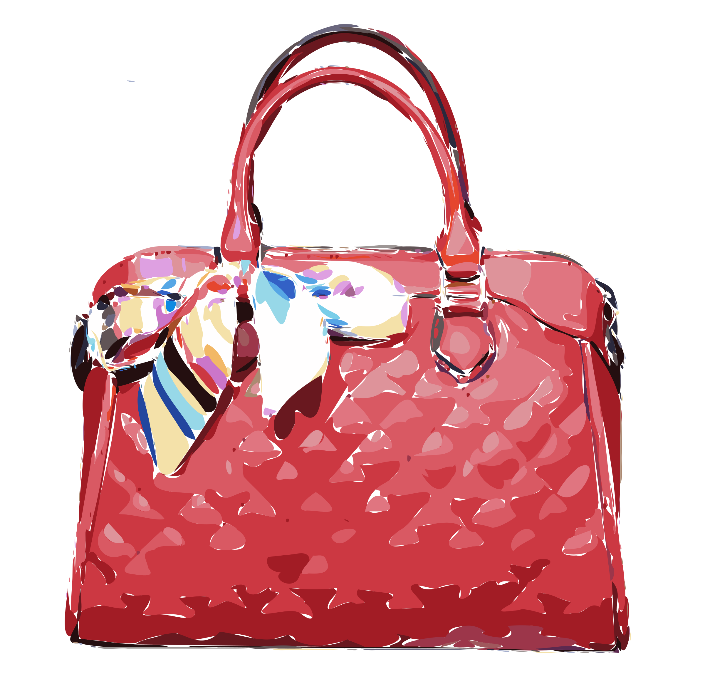 Red Leather Bag with Ribbon by rejon