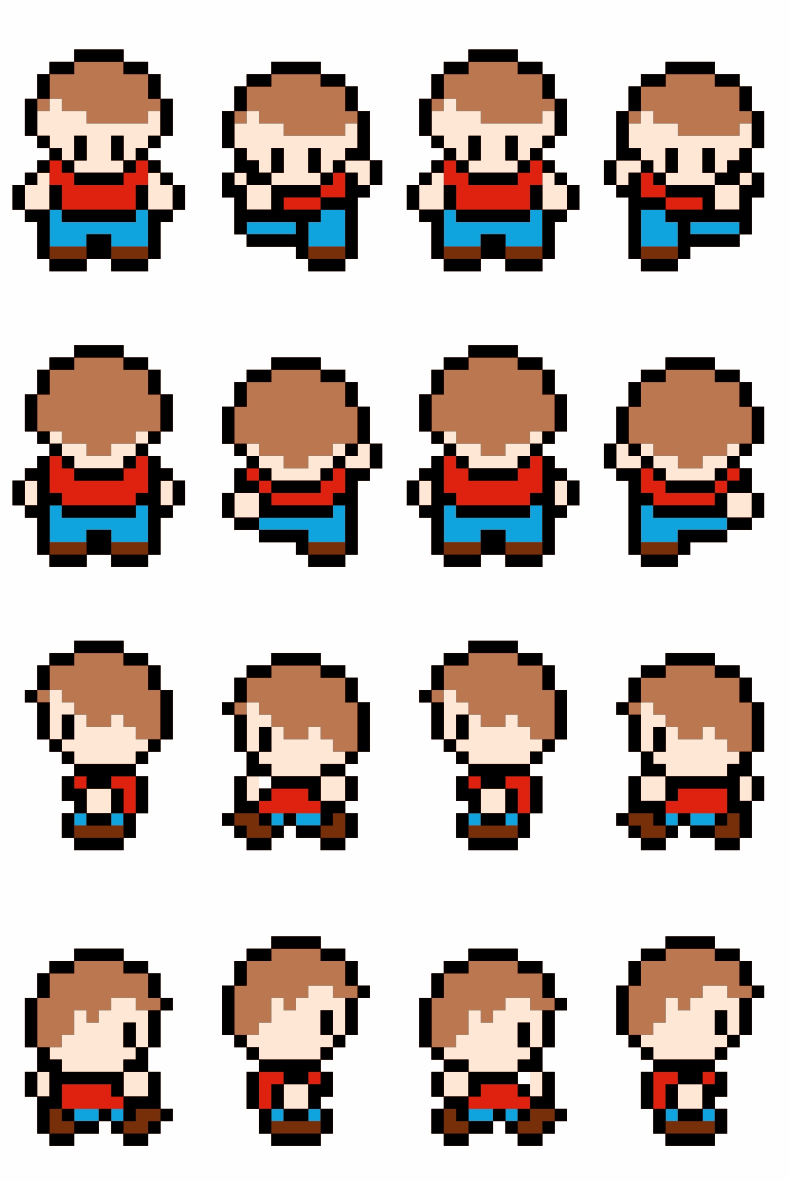 Retro Character Sprite Sheet by isaiah658