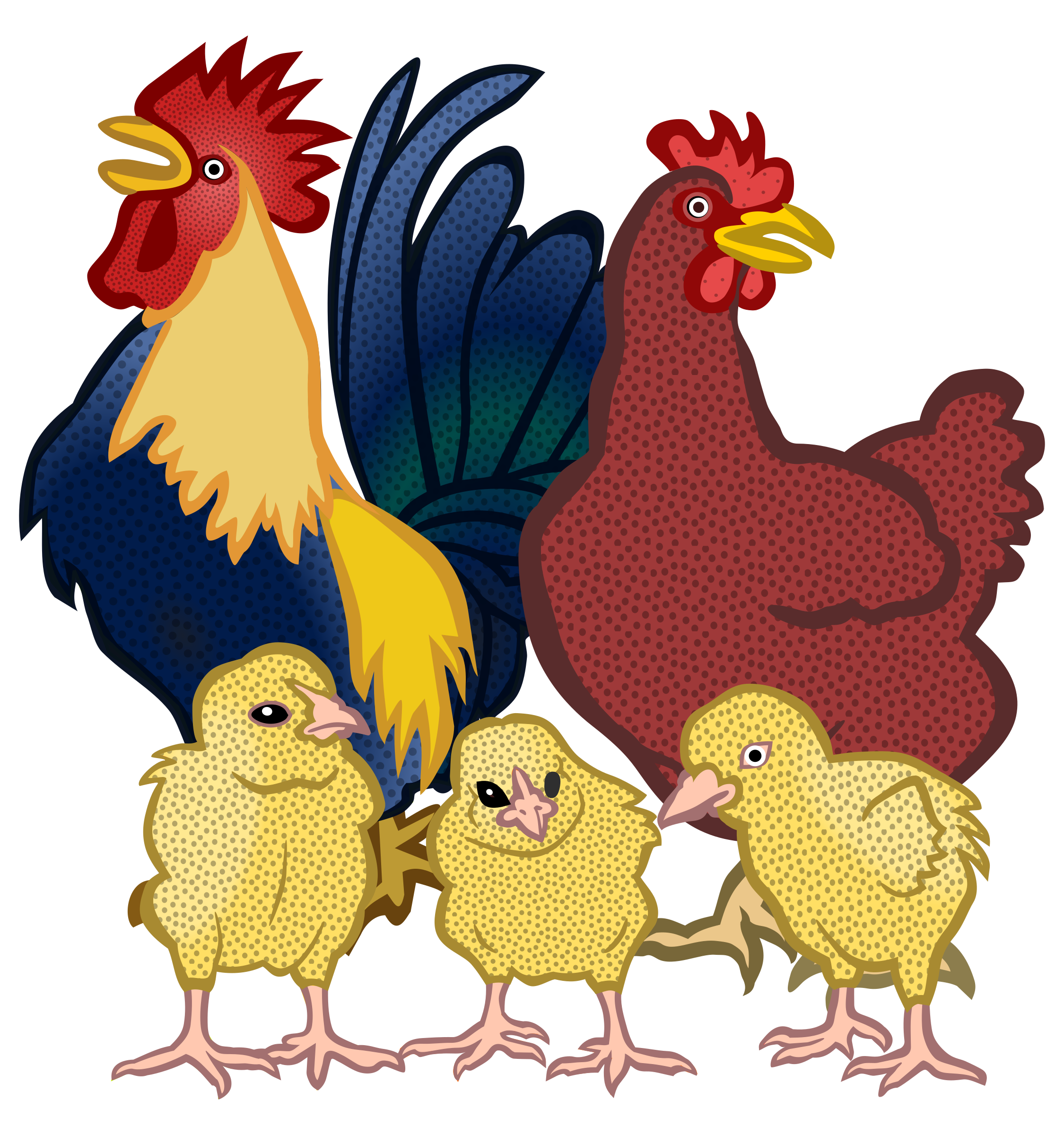 chickens - coloured by frankes
