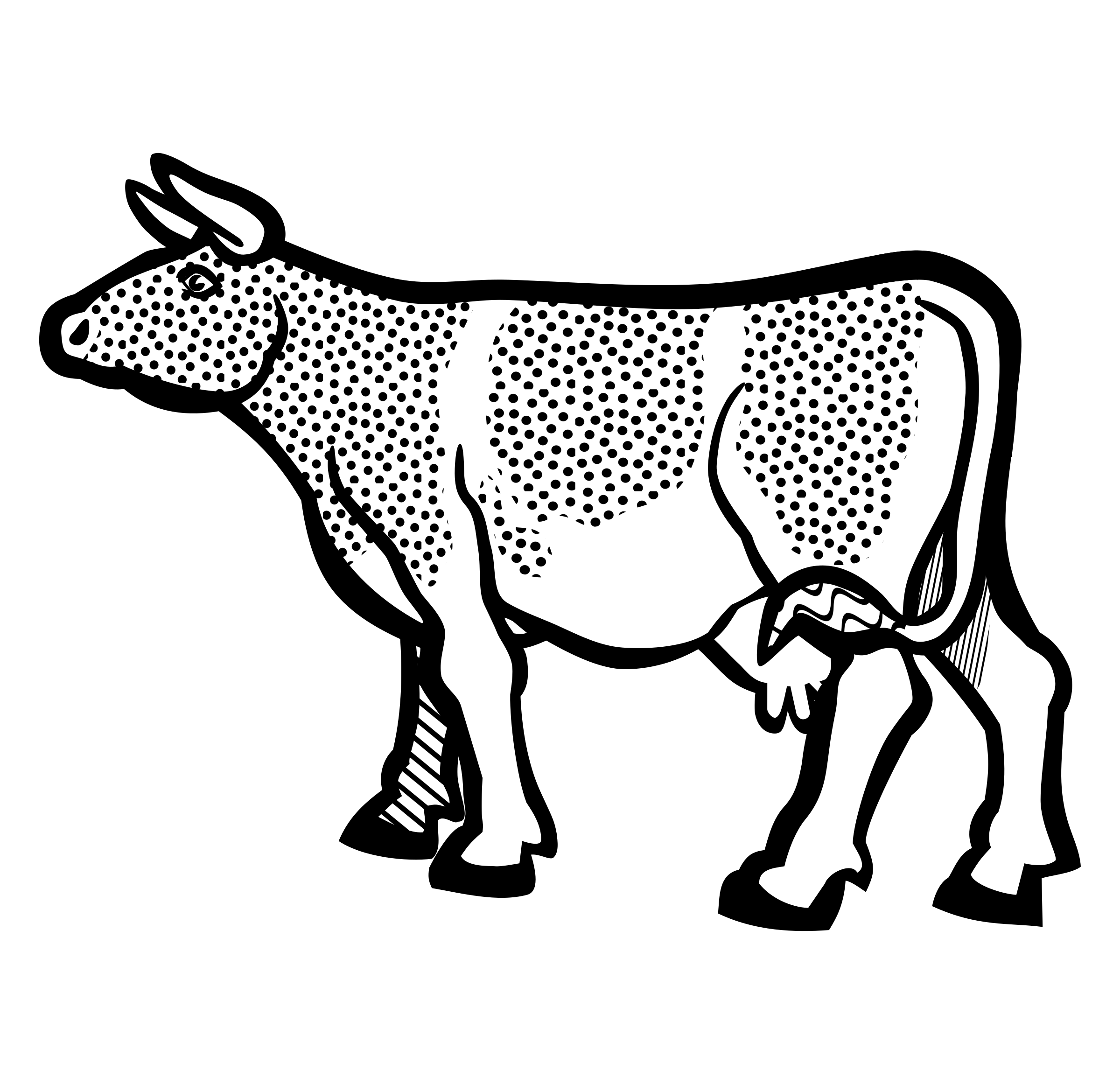 cow2 - lineart by frankes
