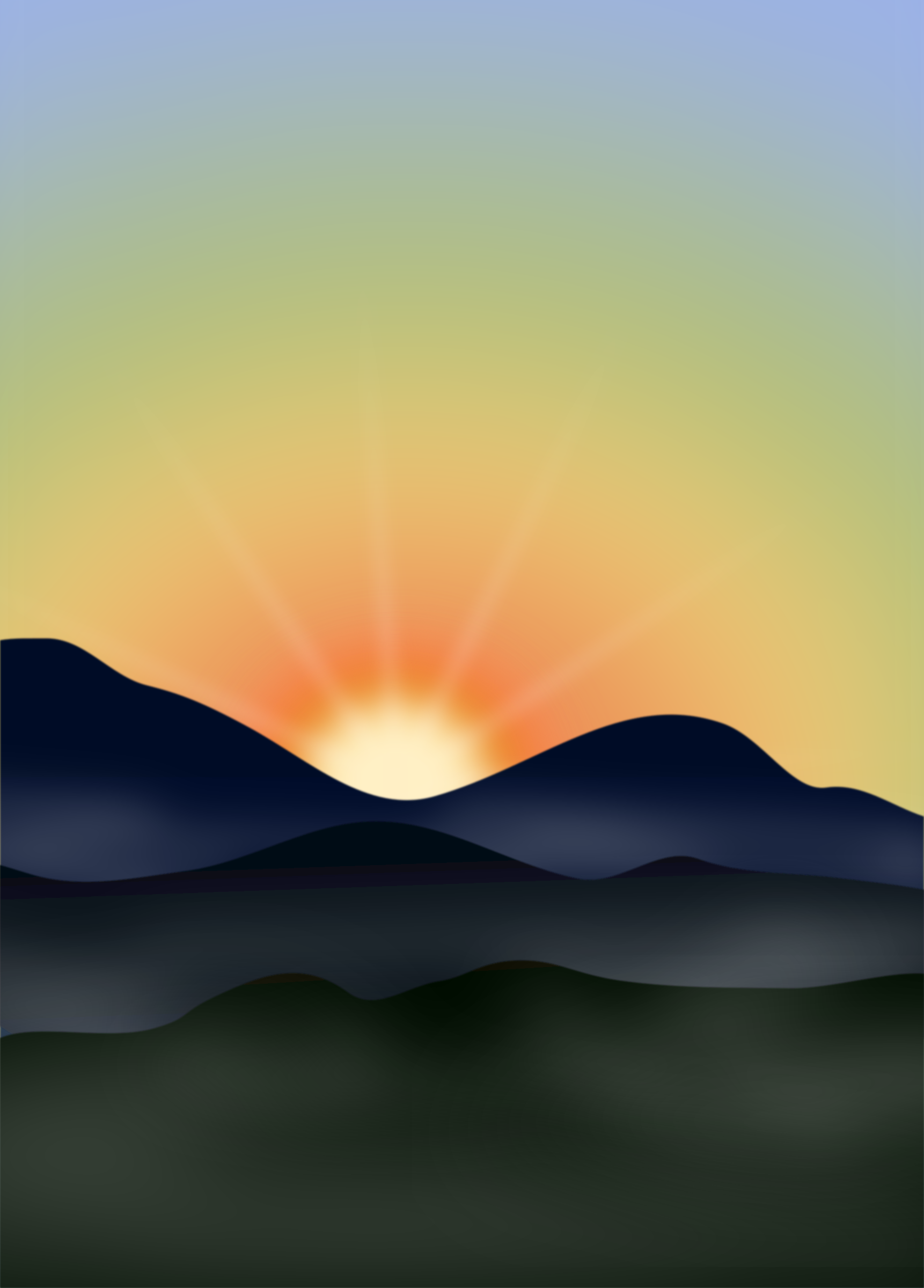 Sunset in the mountains by Moini