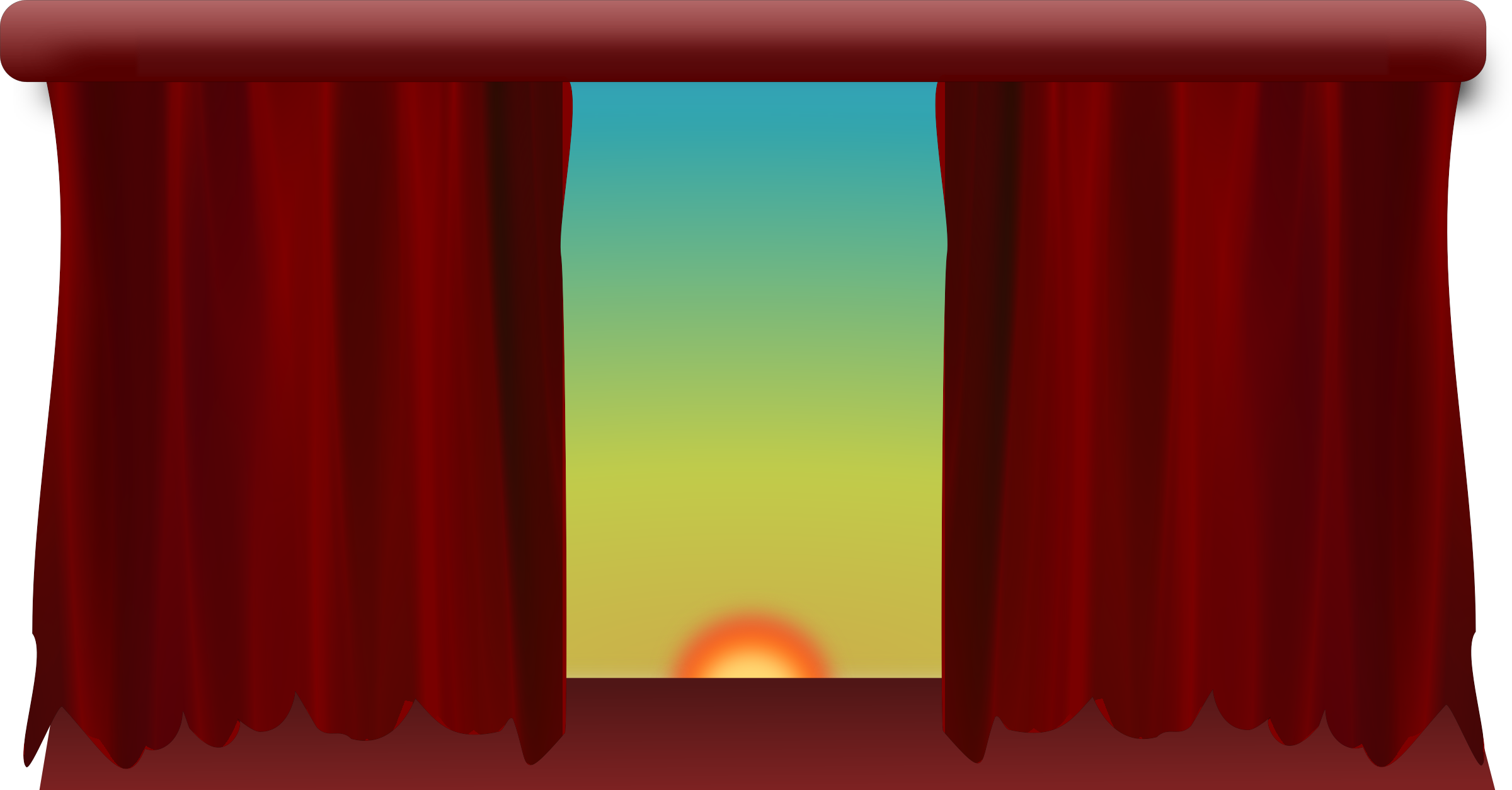 Stage with Filtered Drapes by Moini