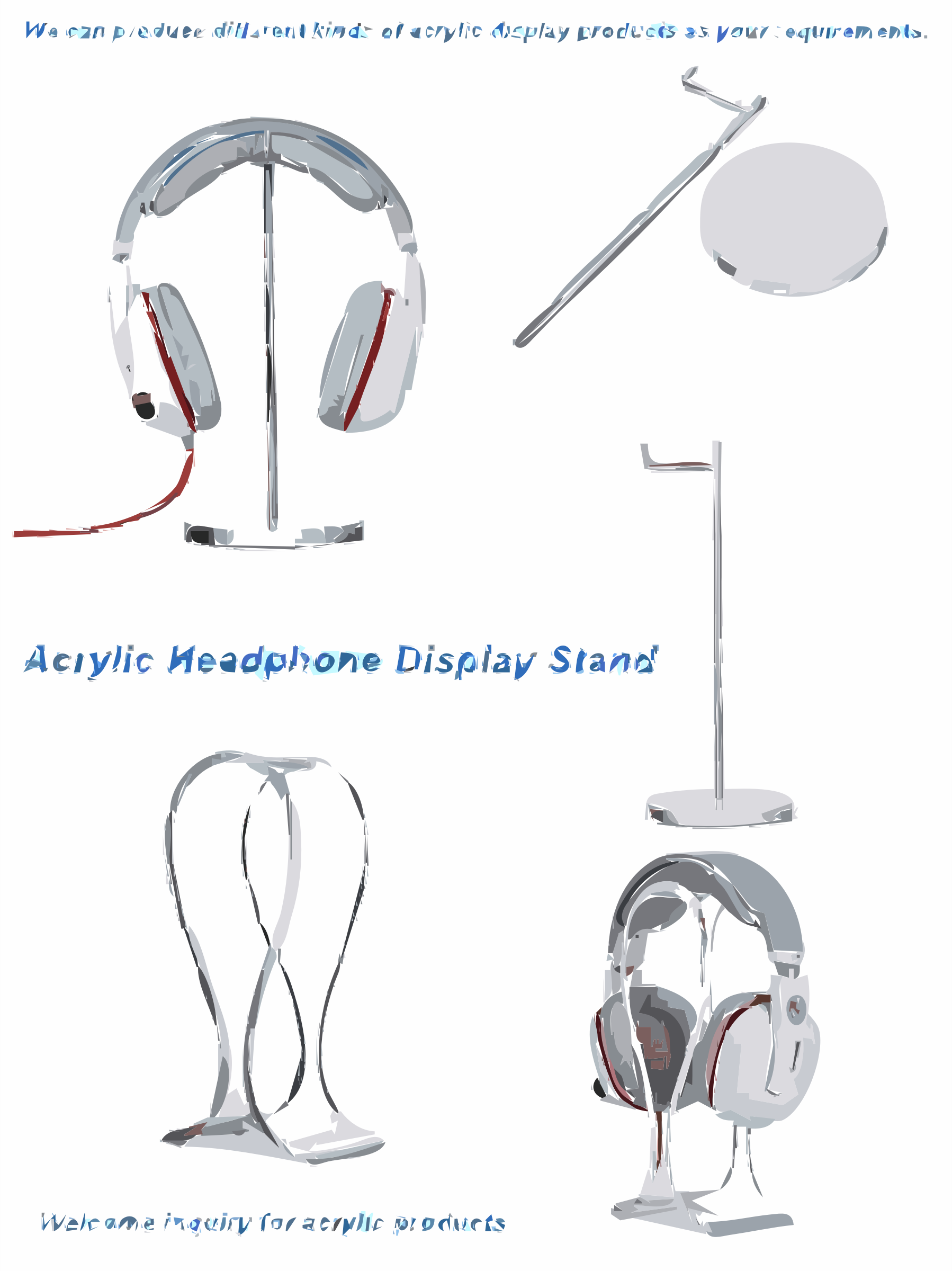 Acrylic Headphone Display Stand by techitems