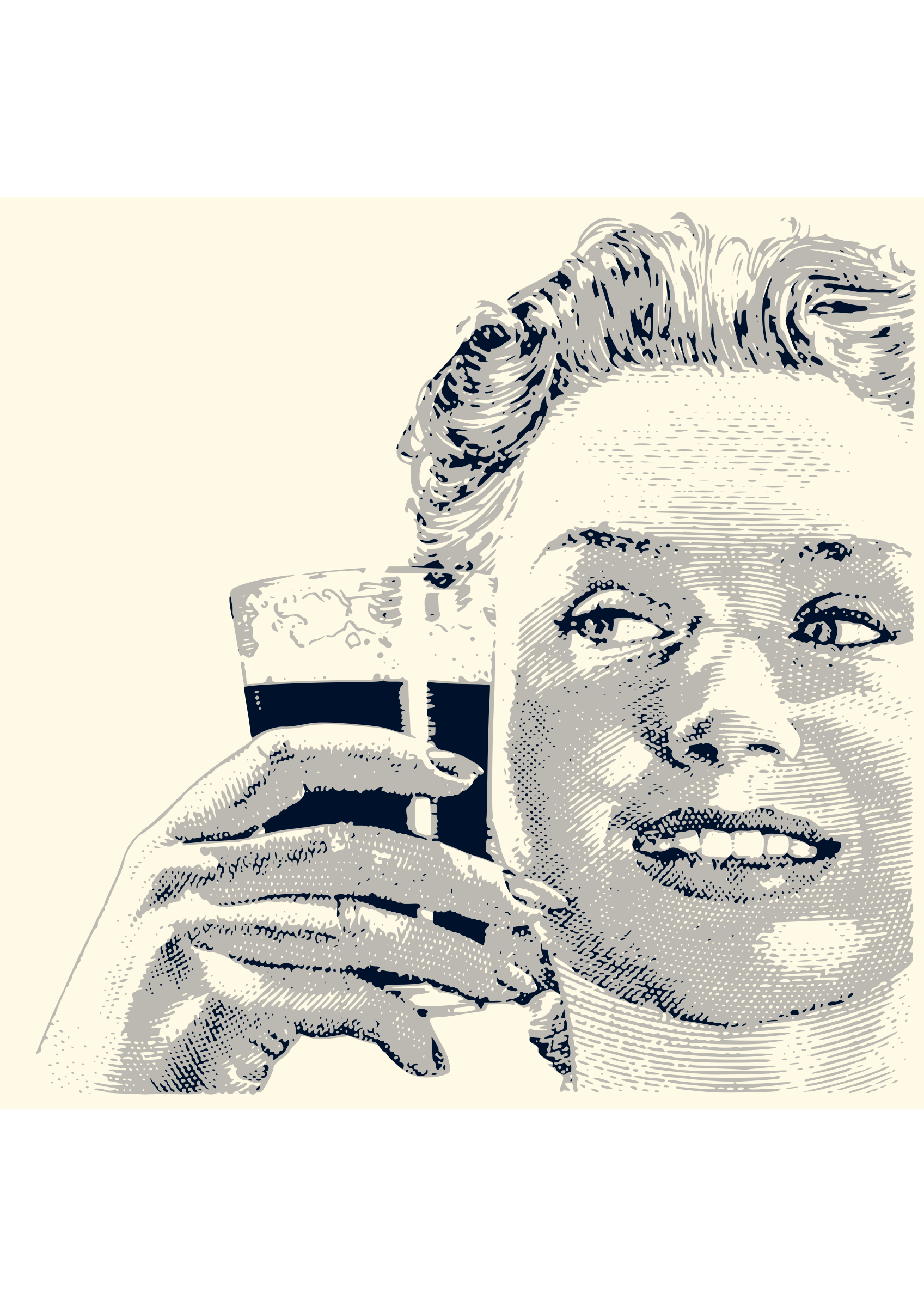Happy woman drinking 02 Framed by Karolus_BR