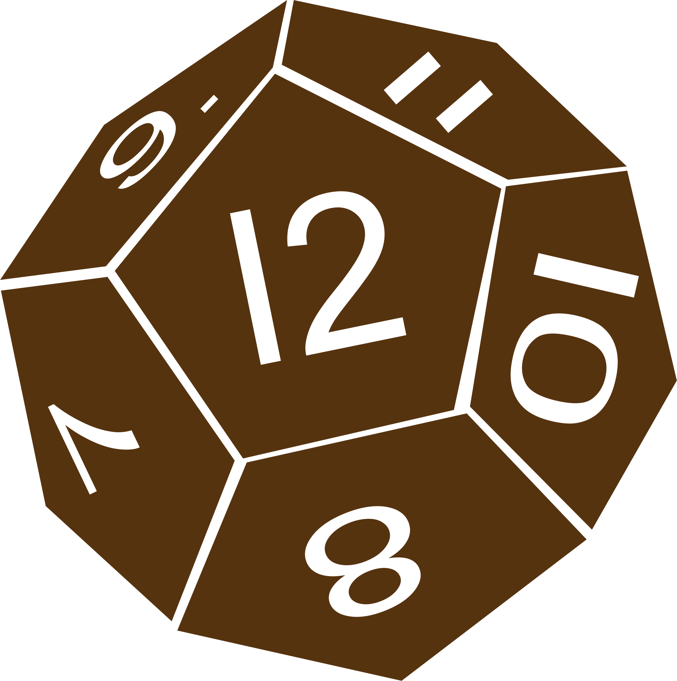 D12 Twelve Sided Dice by dwmoook