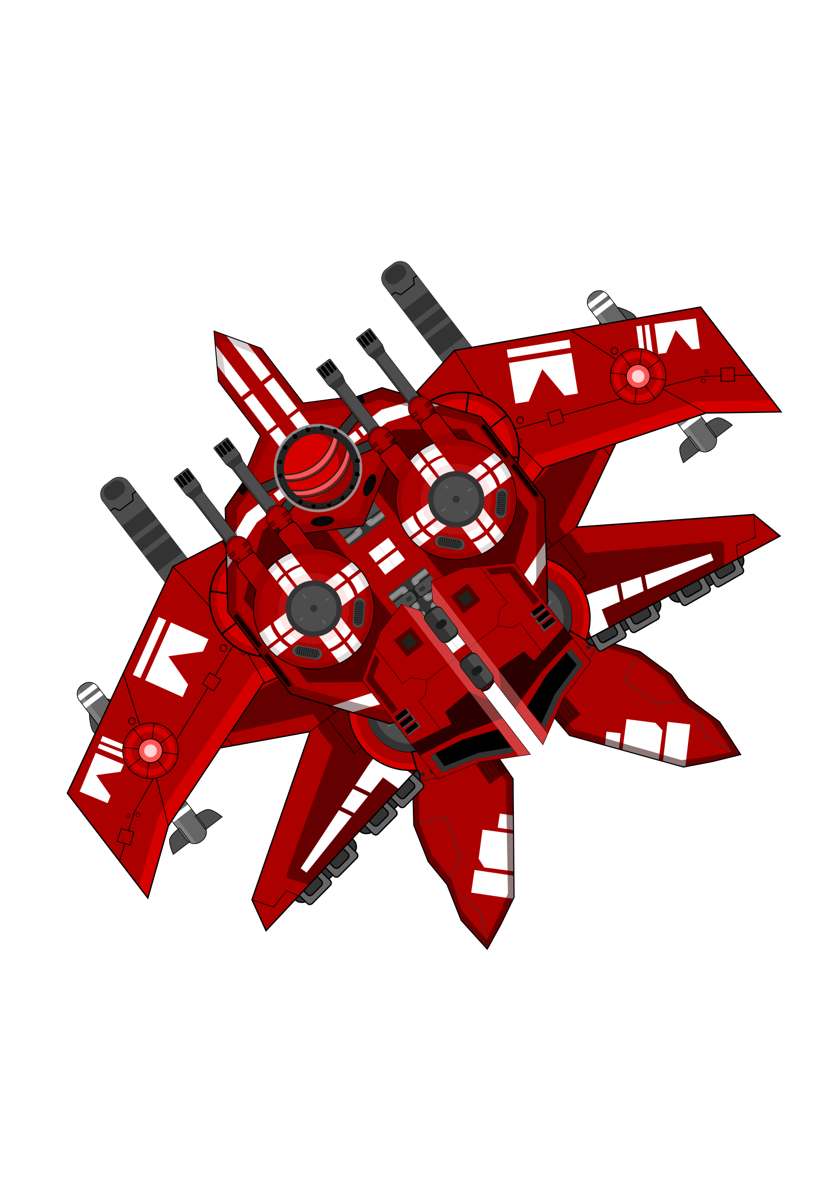Spaceship Red by firestorm200