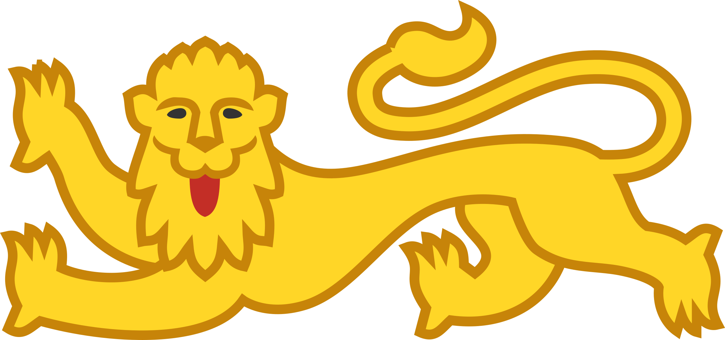 Stylised lion 17 by Firkin