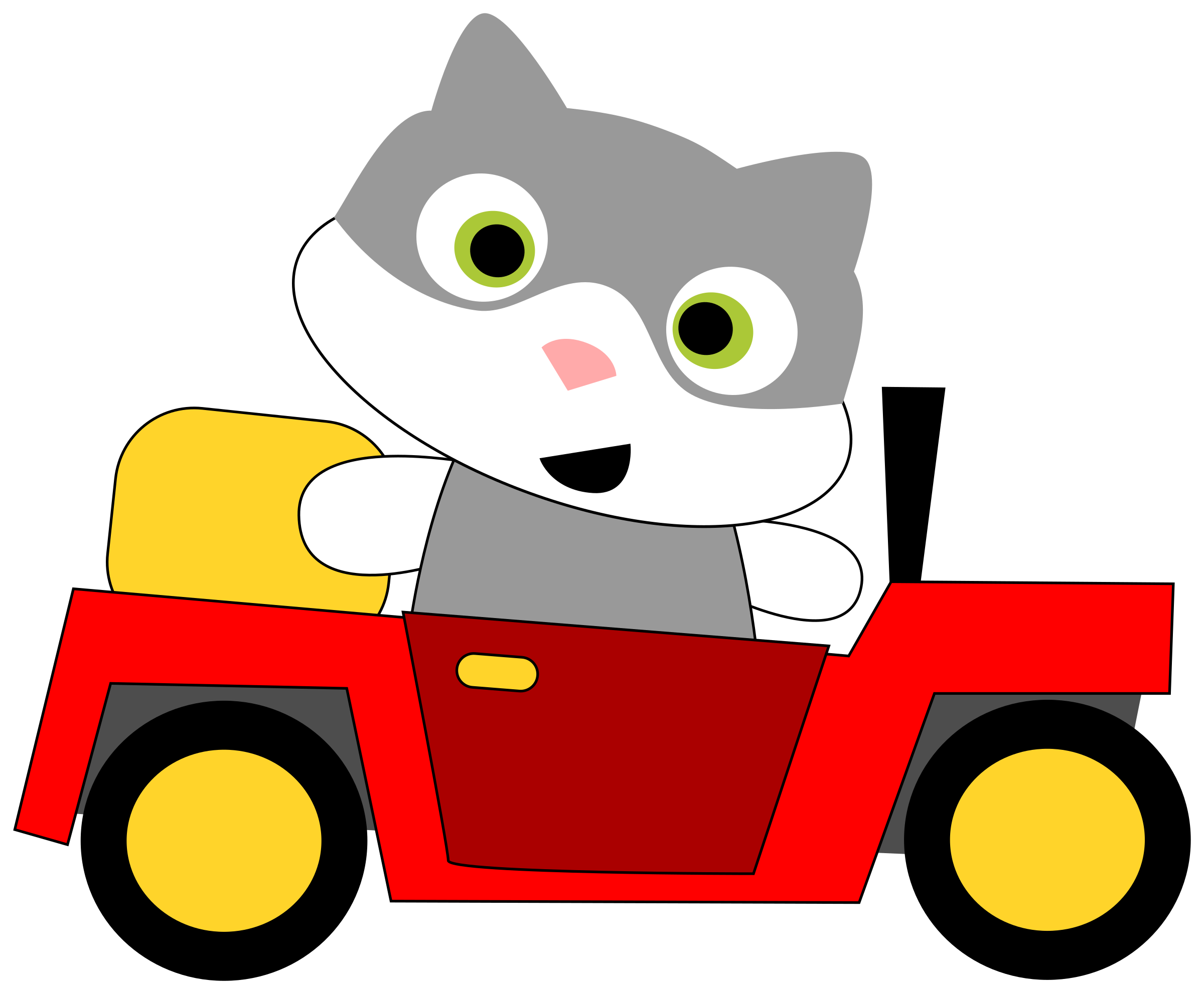 A cat driving a car by aoguerrero