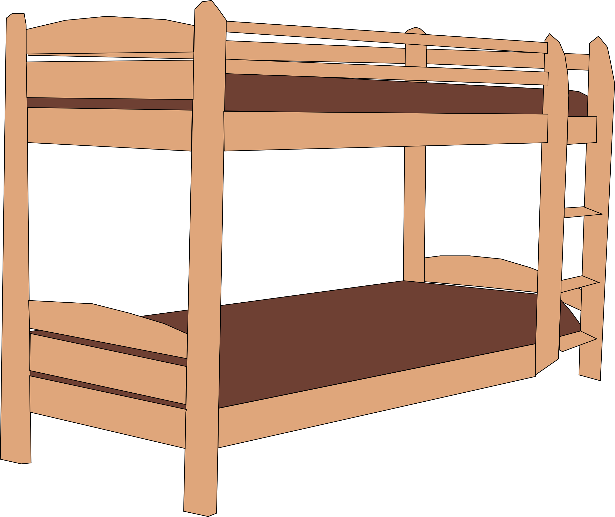 Twin bunk beds by talekids
