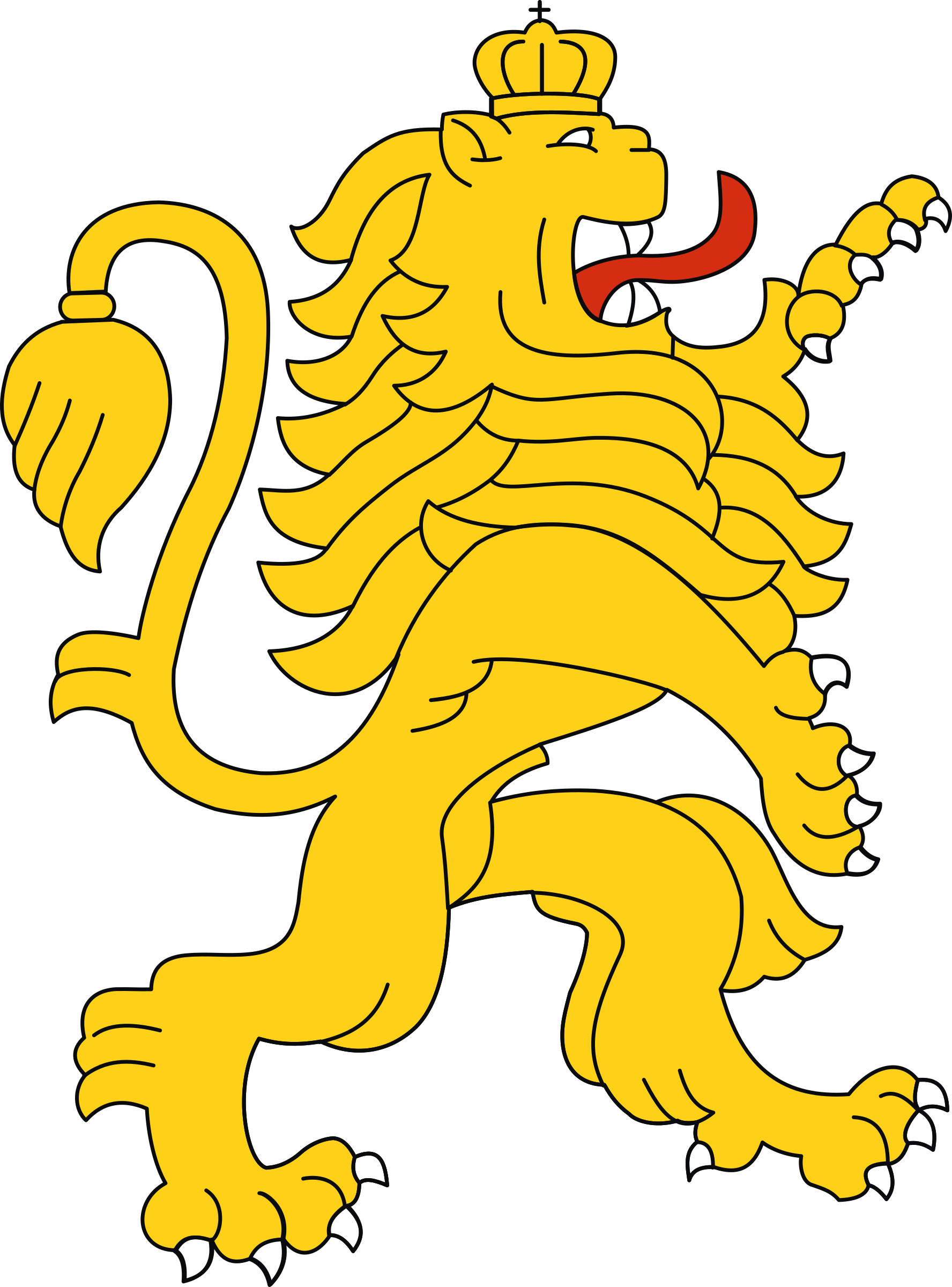 Stylised lion 4 by Firkin