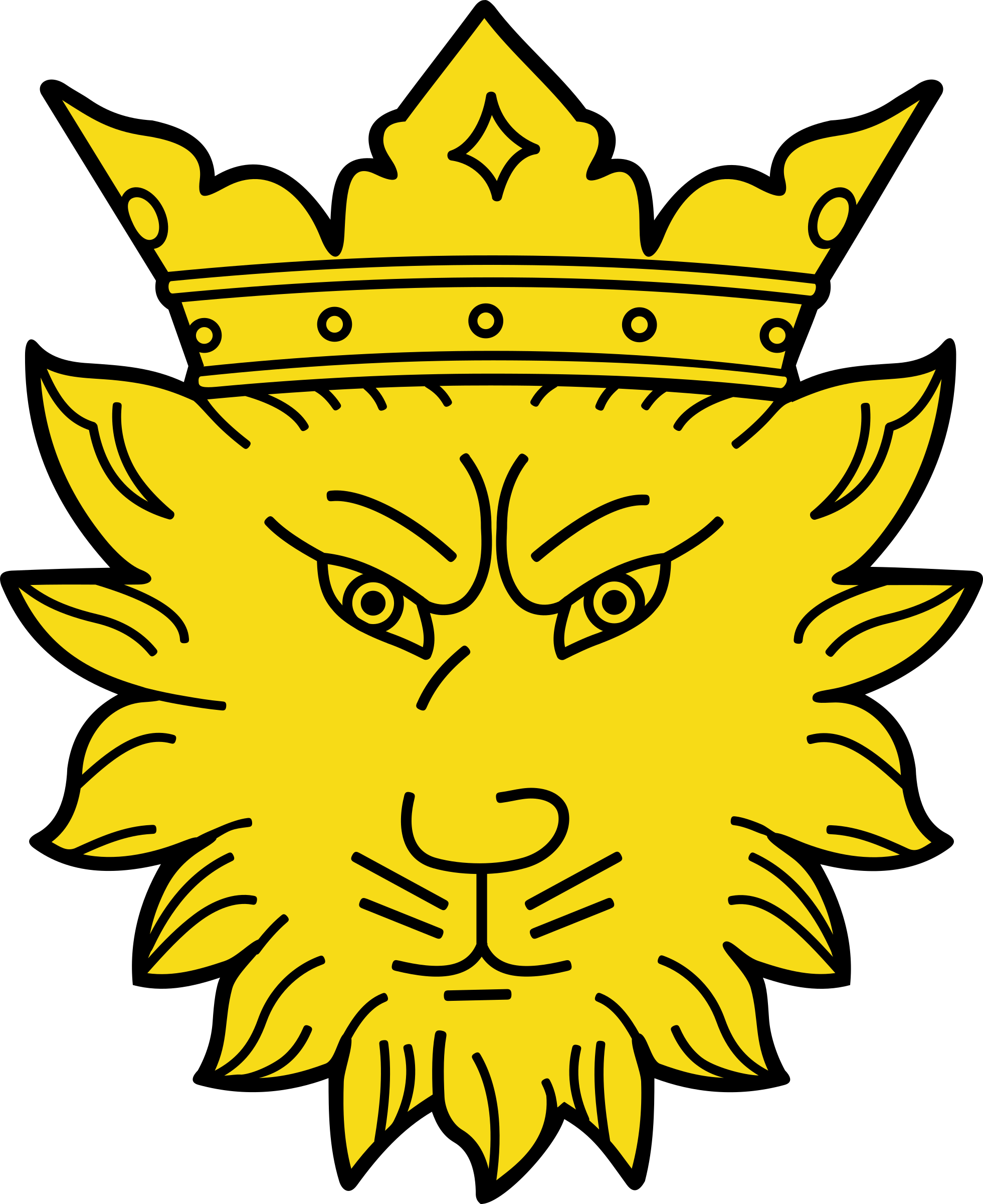 Leopard head with crown by Firkin