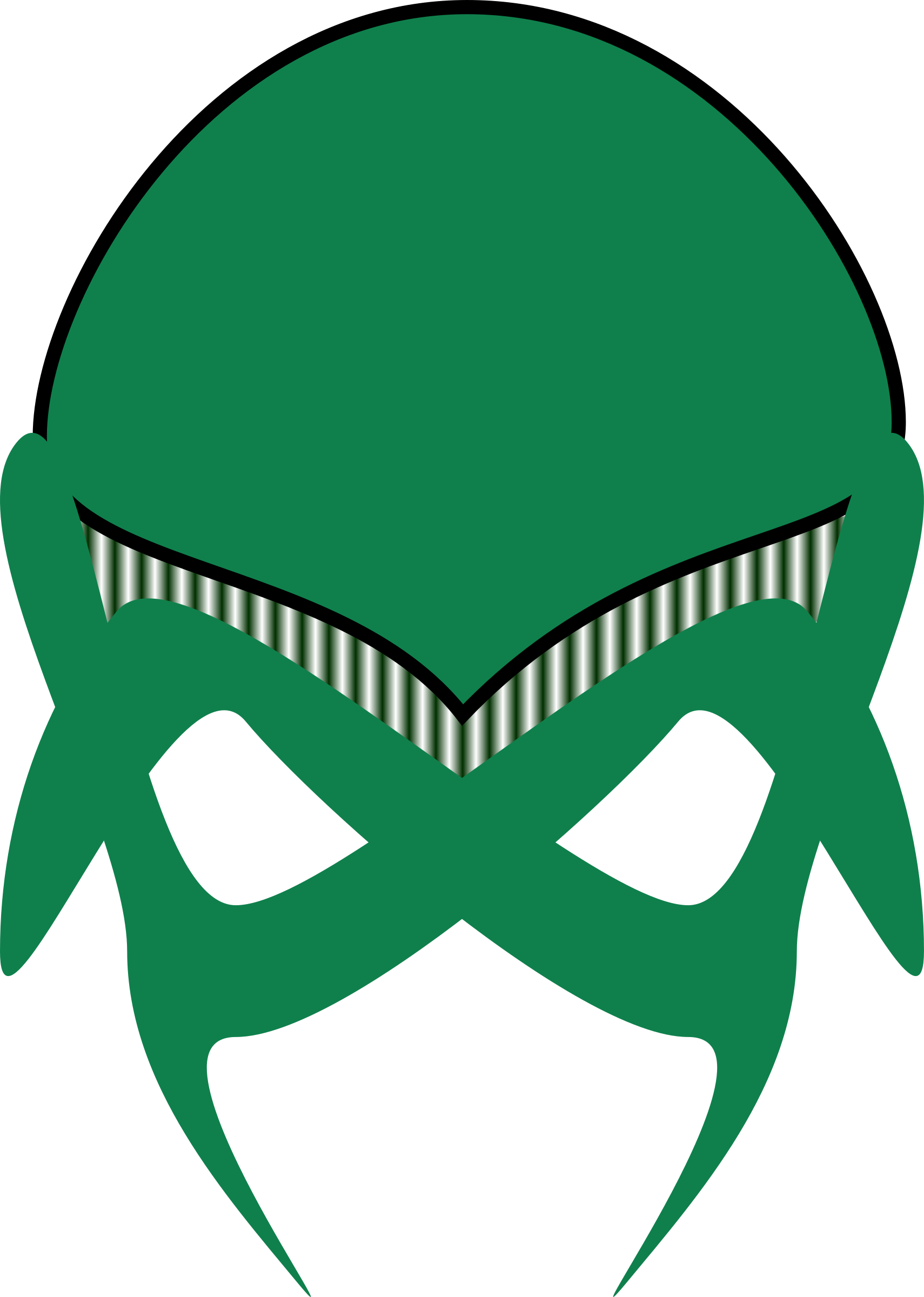green alien mask by Angelo_Gemmi