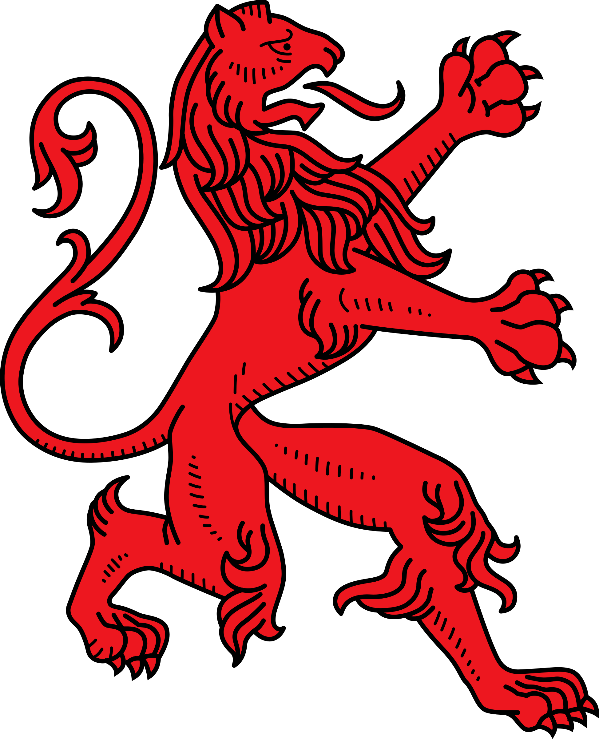 Stylised lion 13 by Firkin