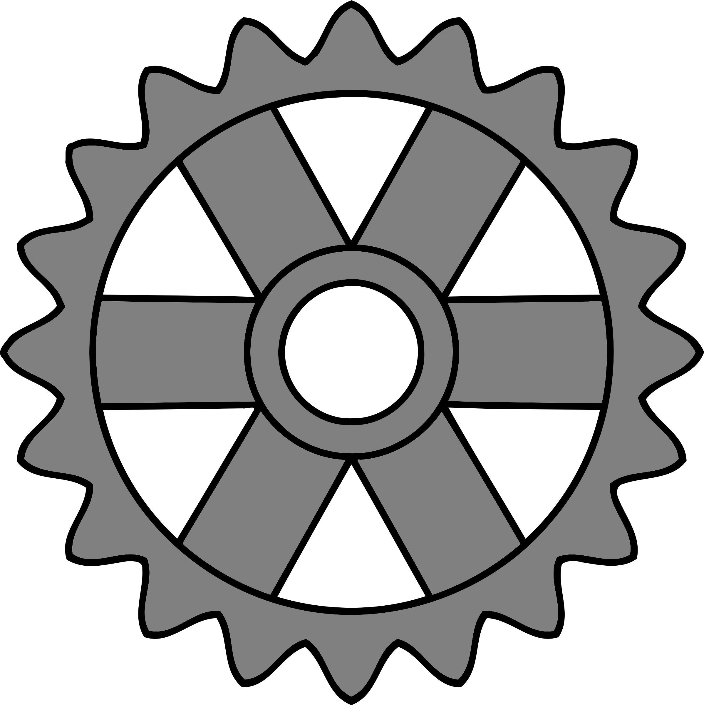 20-tooth gear with rectangular spokes by Firkin