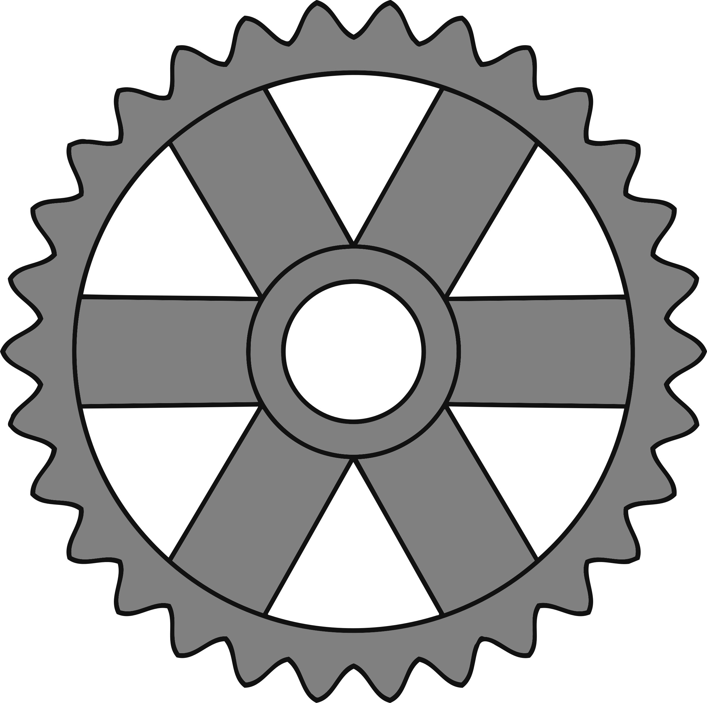 30-tooth gear with rectangular spokes by Firkin