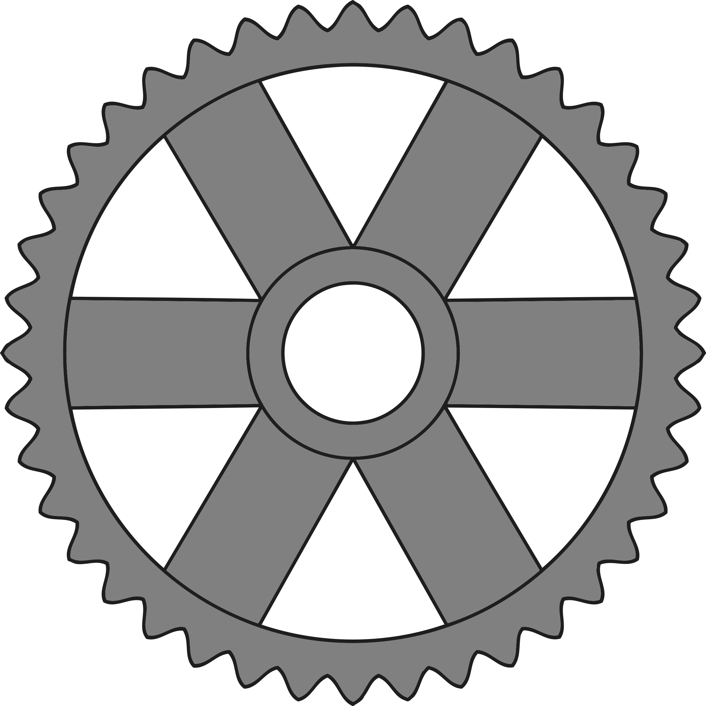 40-tooth gear with rectangular spokes by Firkin
