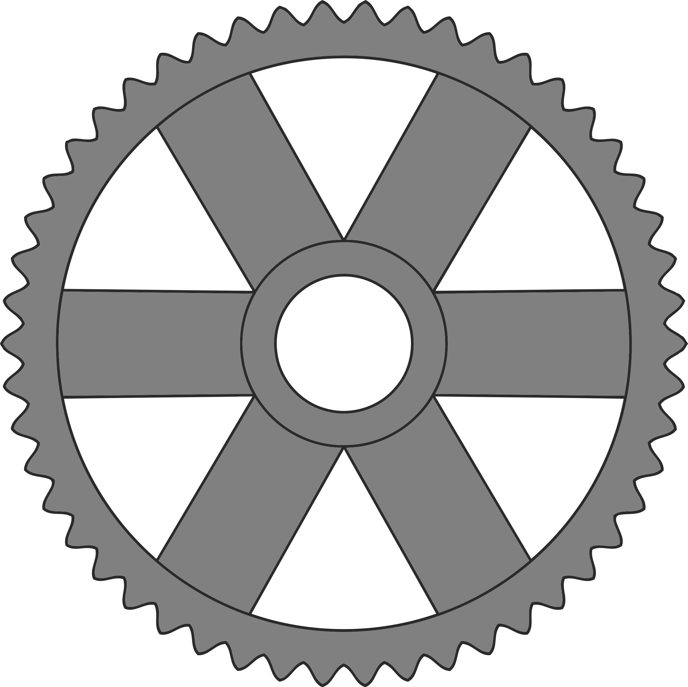 50-tooth gear with rectangular spokes by Firkin