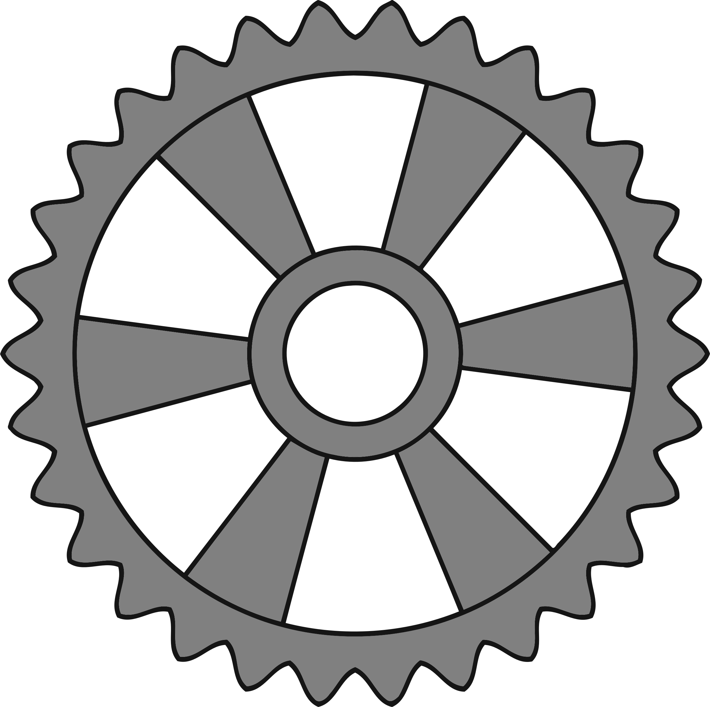 30-tooth gear with radial spokes by Firkin