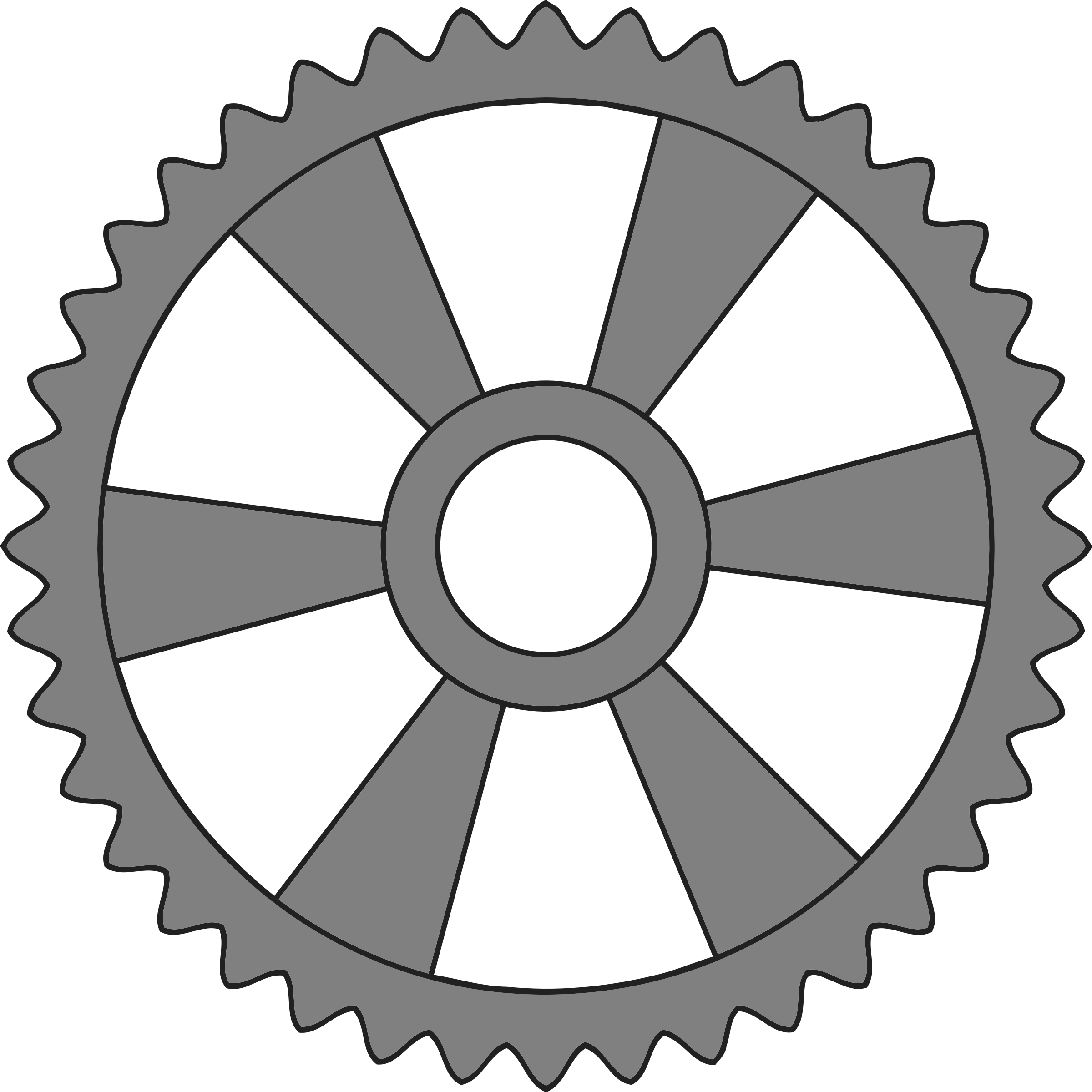 40-tooth gear with radial spokes by Firkin