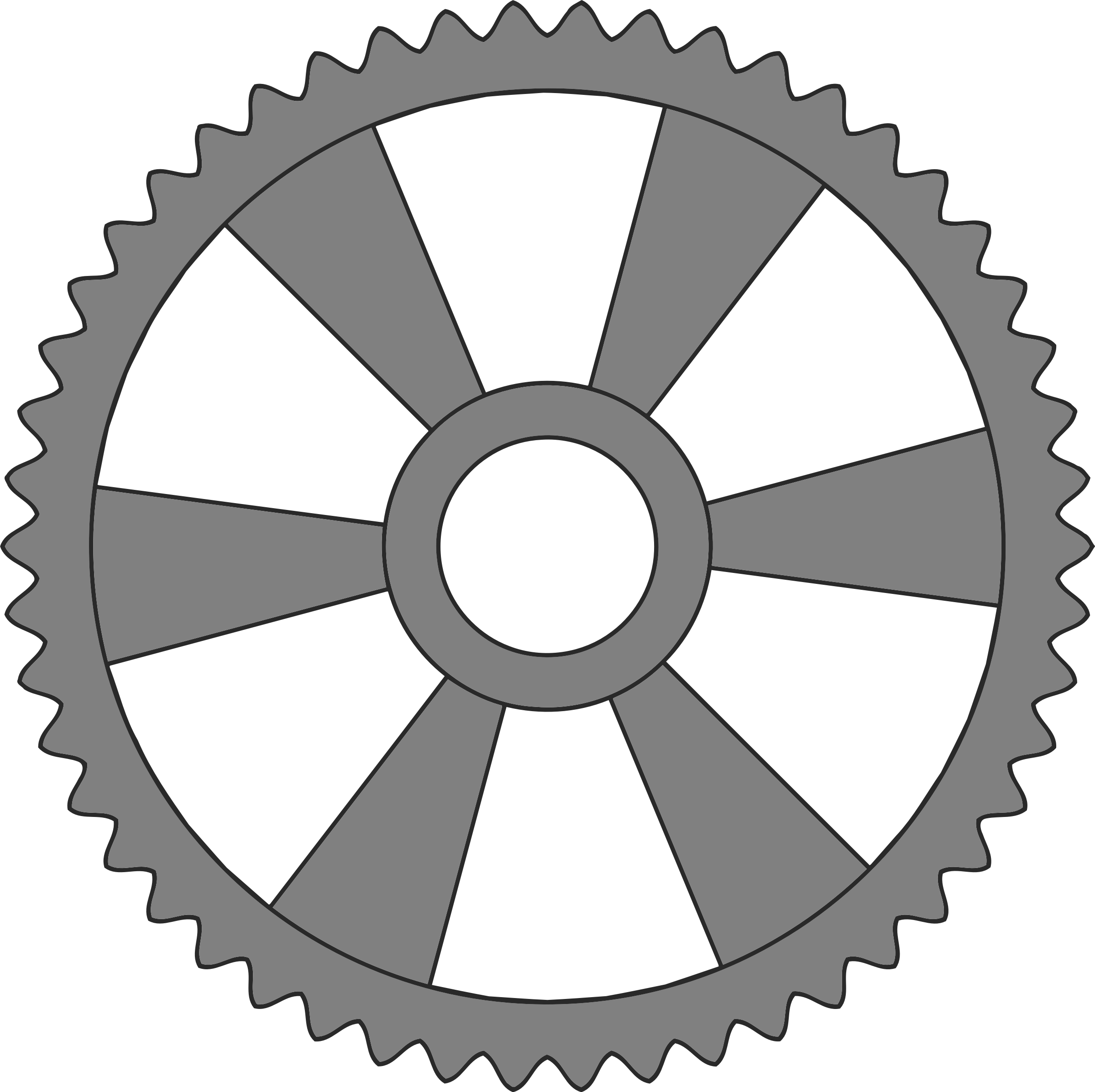 50-tooth gear with radial spokes by Firkin