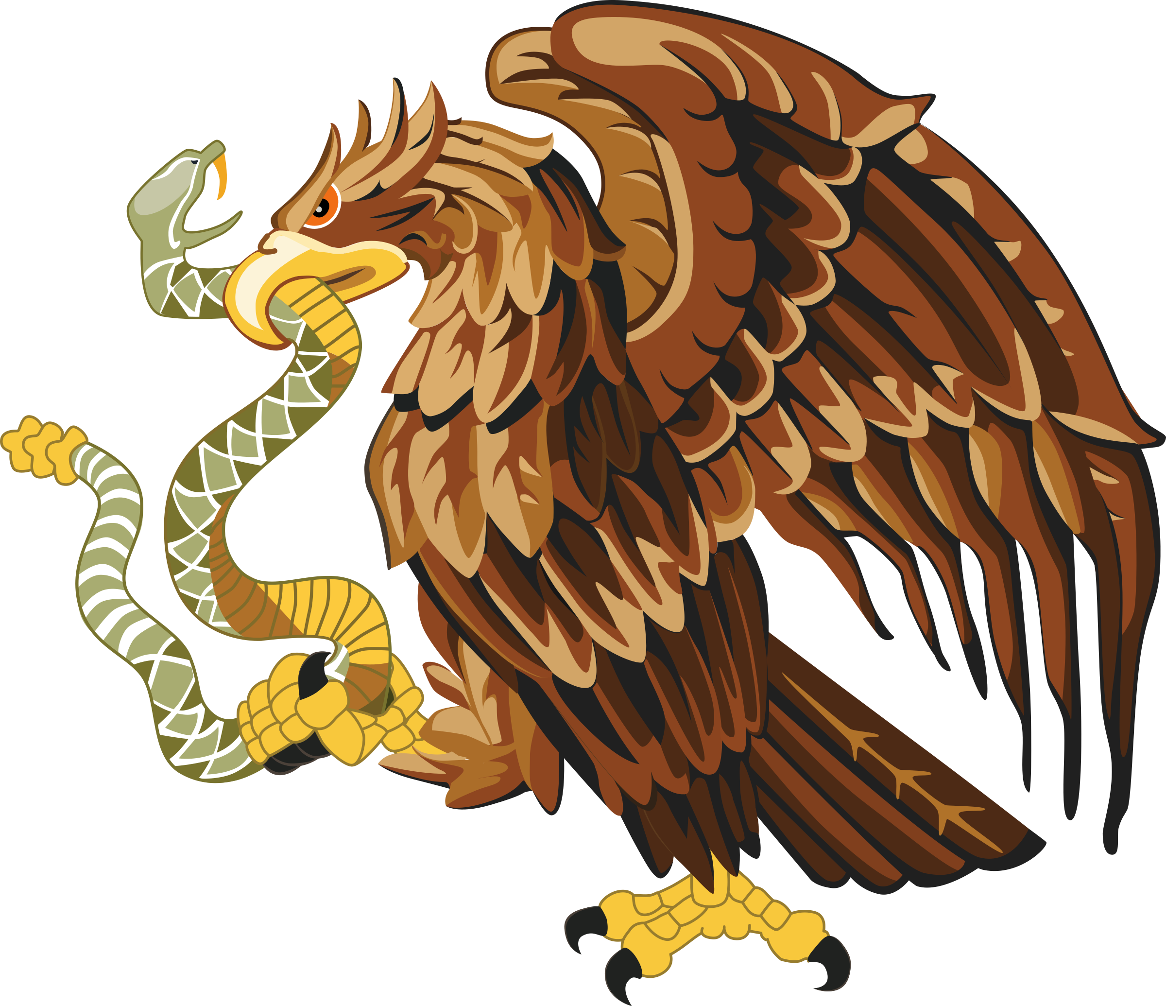 Golden eagle with snake by Firkin