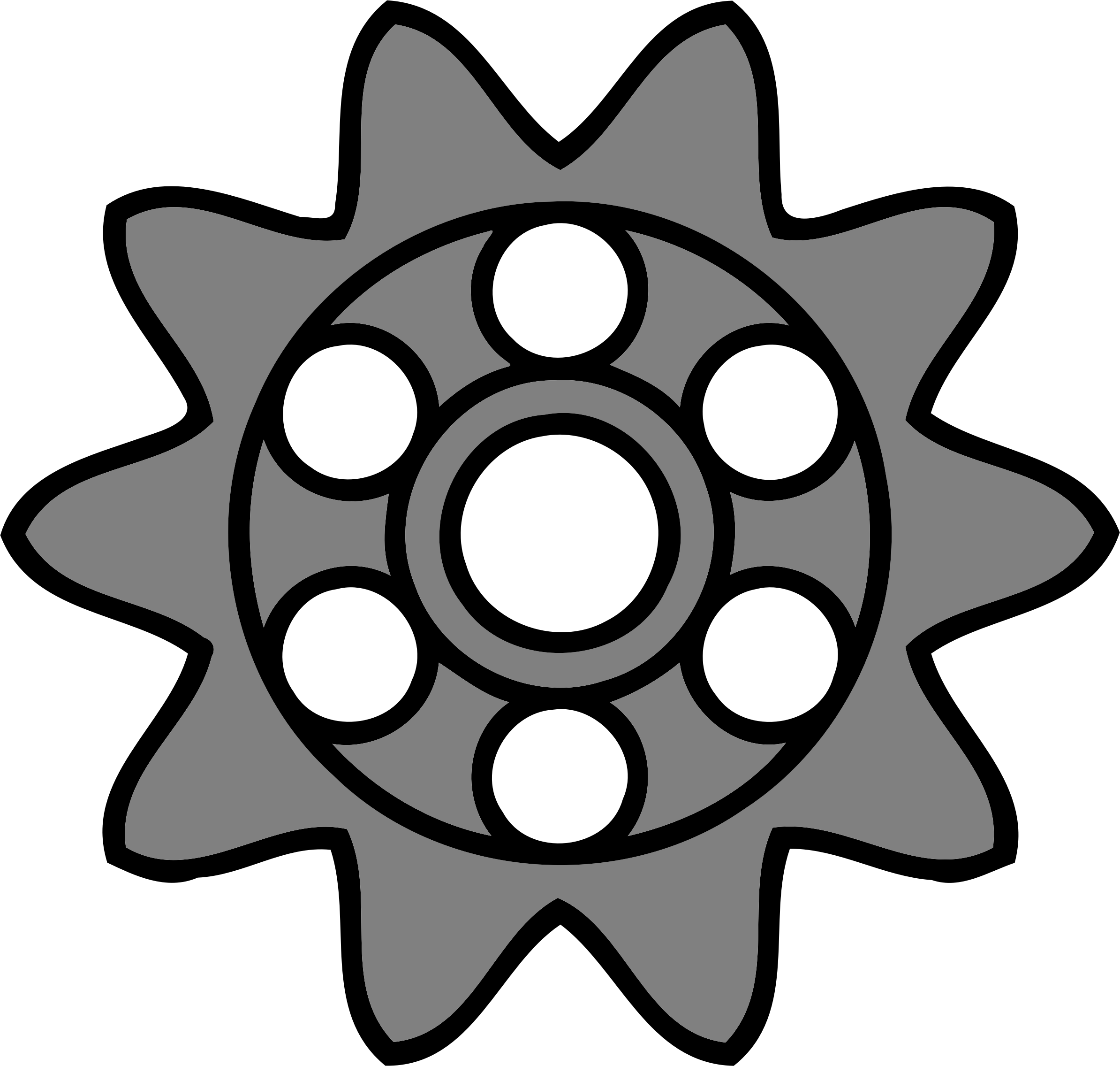 10-tooth gear with circular holes by Firkin