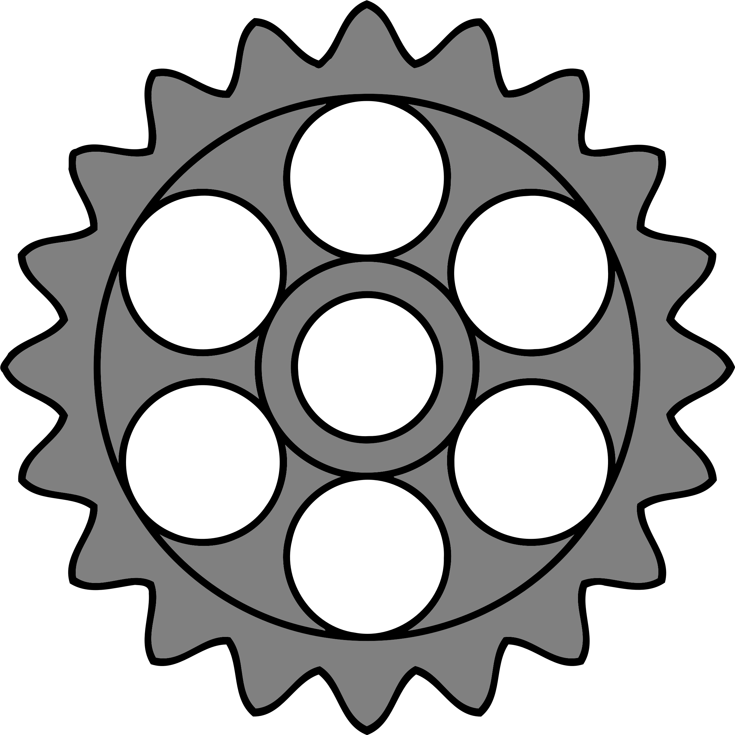 20-tooth gear with circular holes by Firkin
