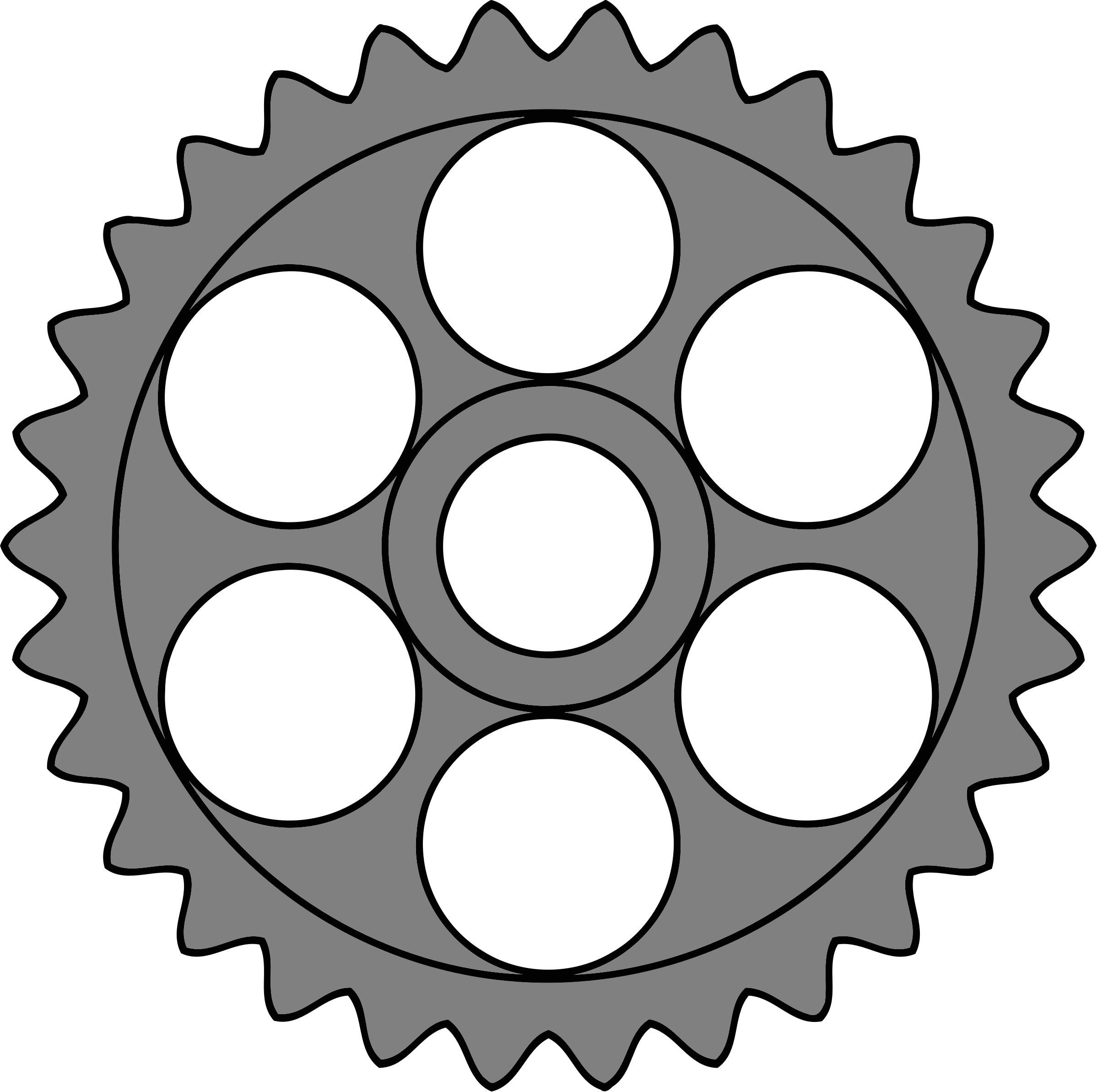 30-tooth gear with circular holes by Firkin