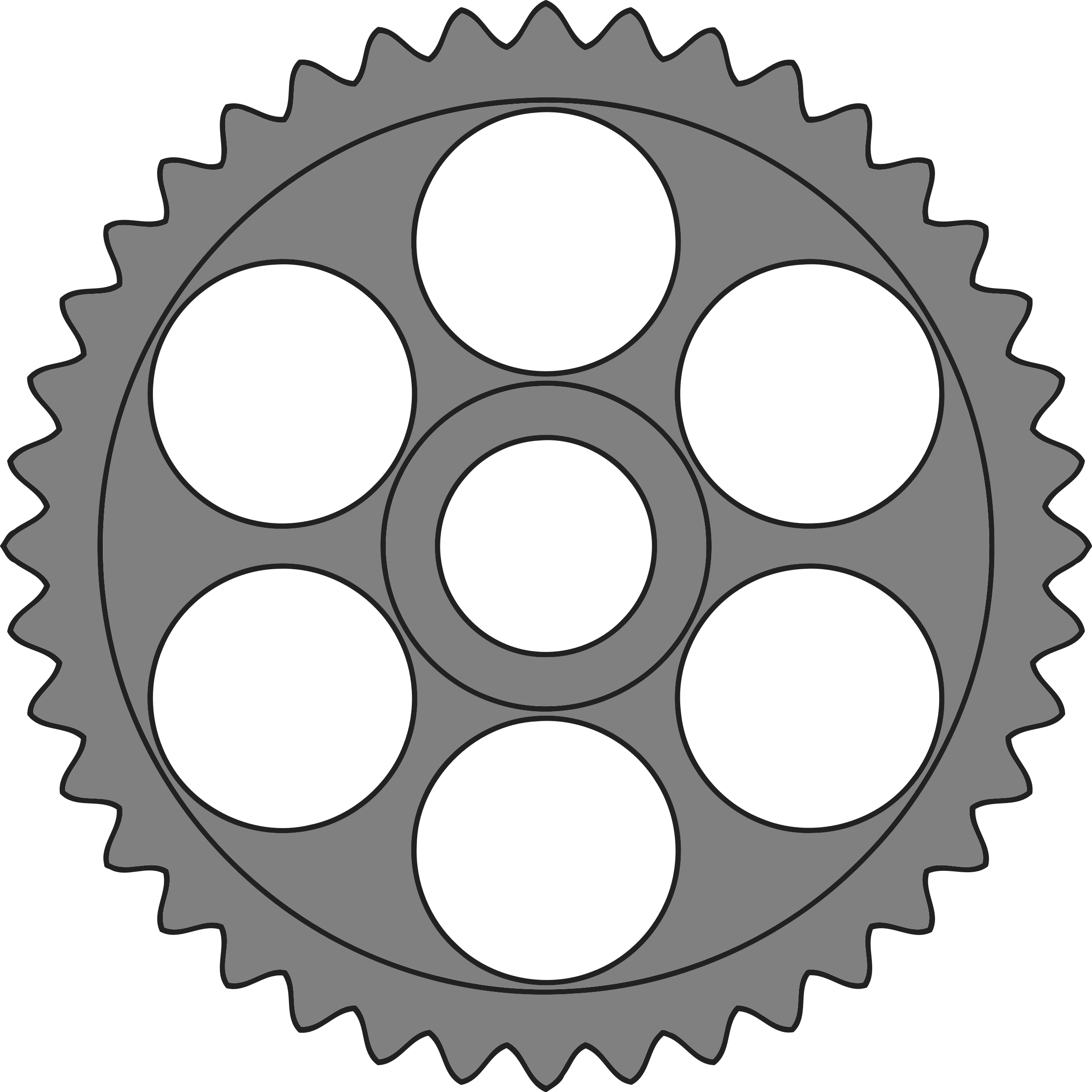40-tooth gear with circular holes by Firkin