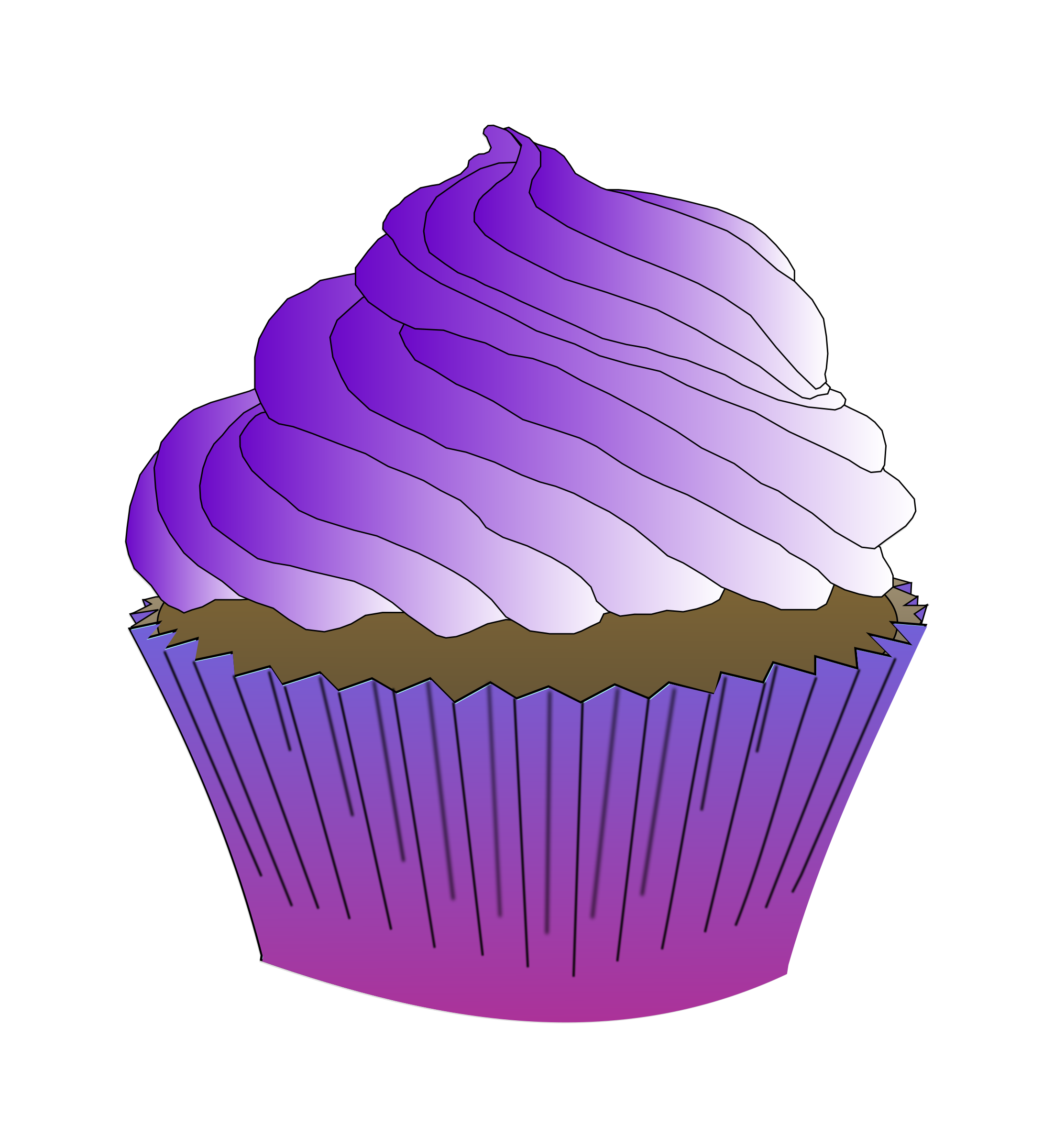 Chocolate Purple Cupcake by PinkJellyfish