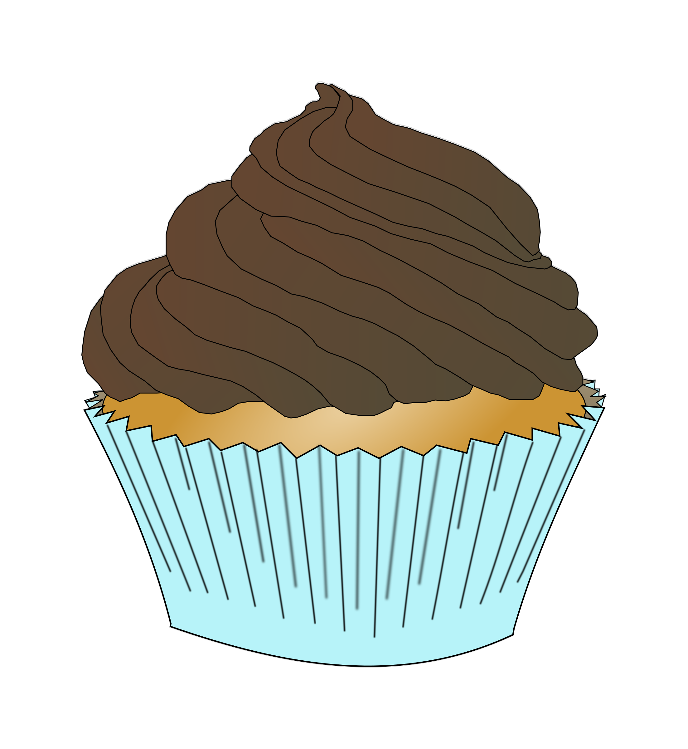 Chocolate Frosting Cupcake by PinkJellyfish